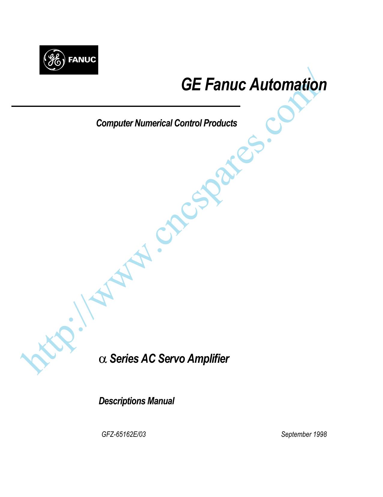 Alpha AC Servo Amplifier Description Mnl, GFZ | manualzz com