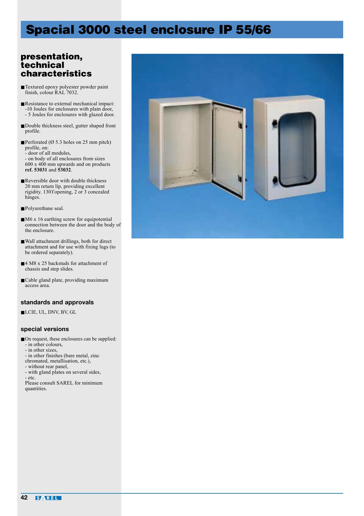 Spacial 8 steel enclosure IP 8/8   Manualzz