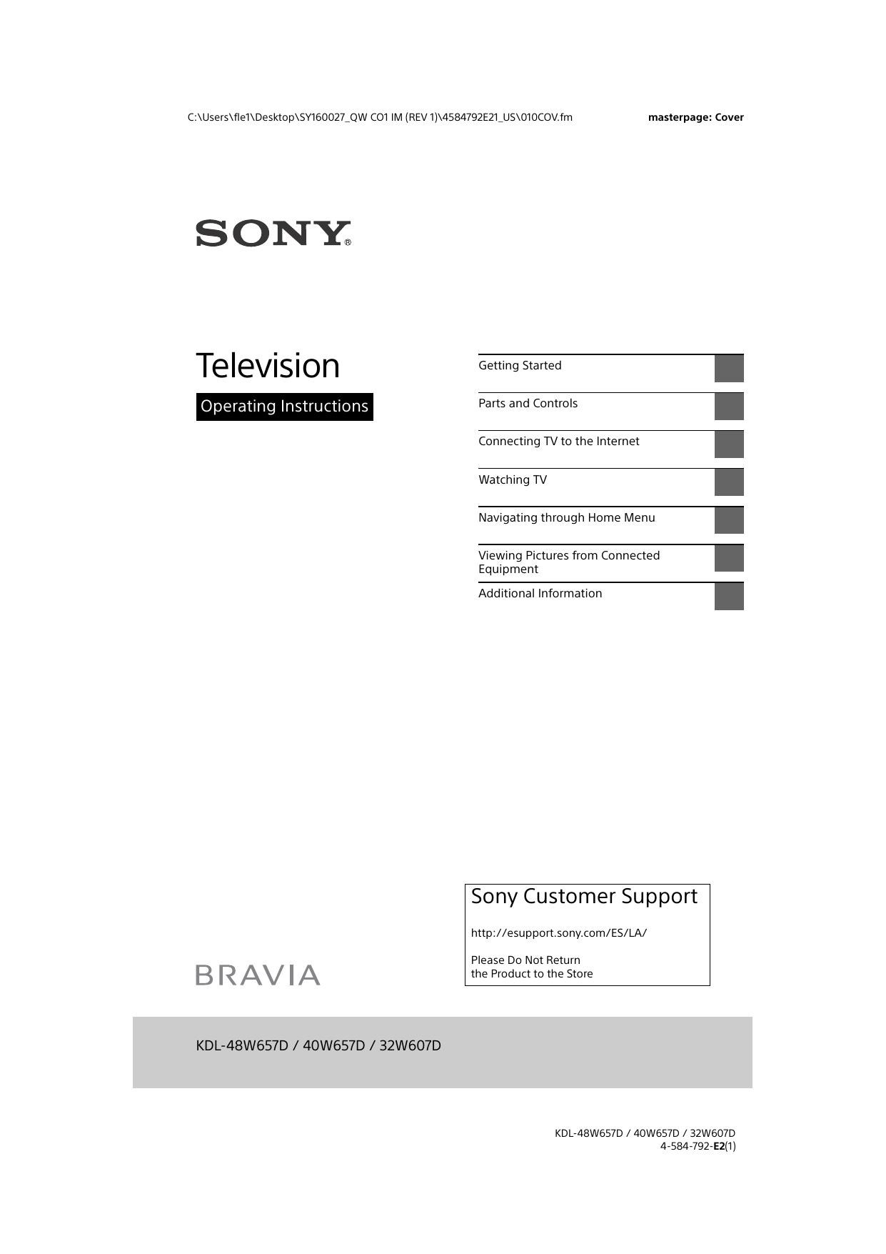 Television - Sony Parts | manualzz com