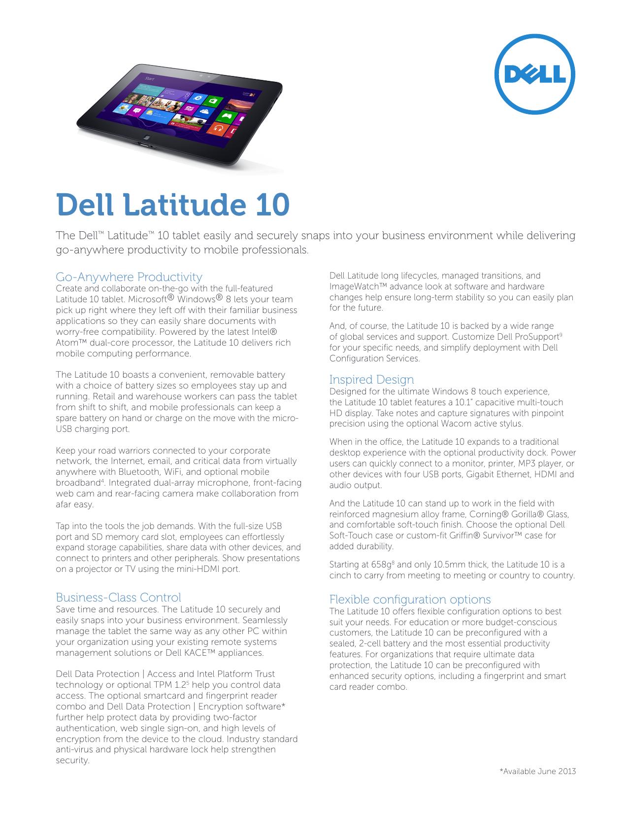 Dell Latitude 10   manualzz com