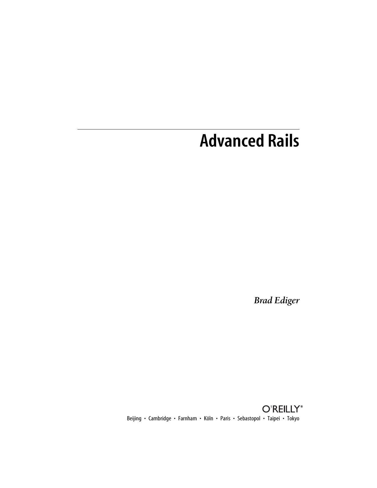 Advanced Rails | manualzz com