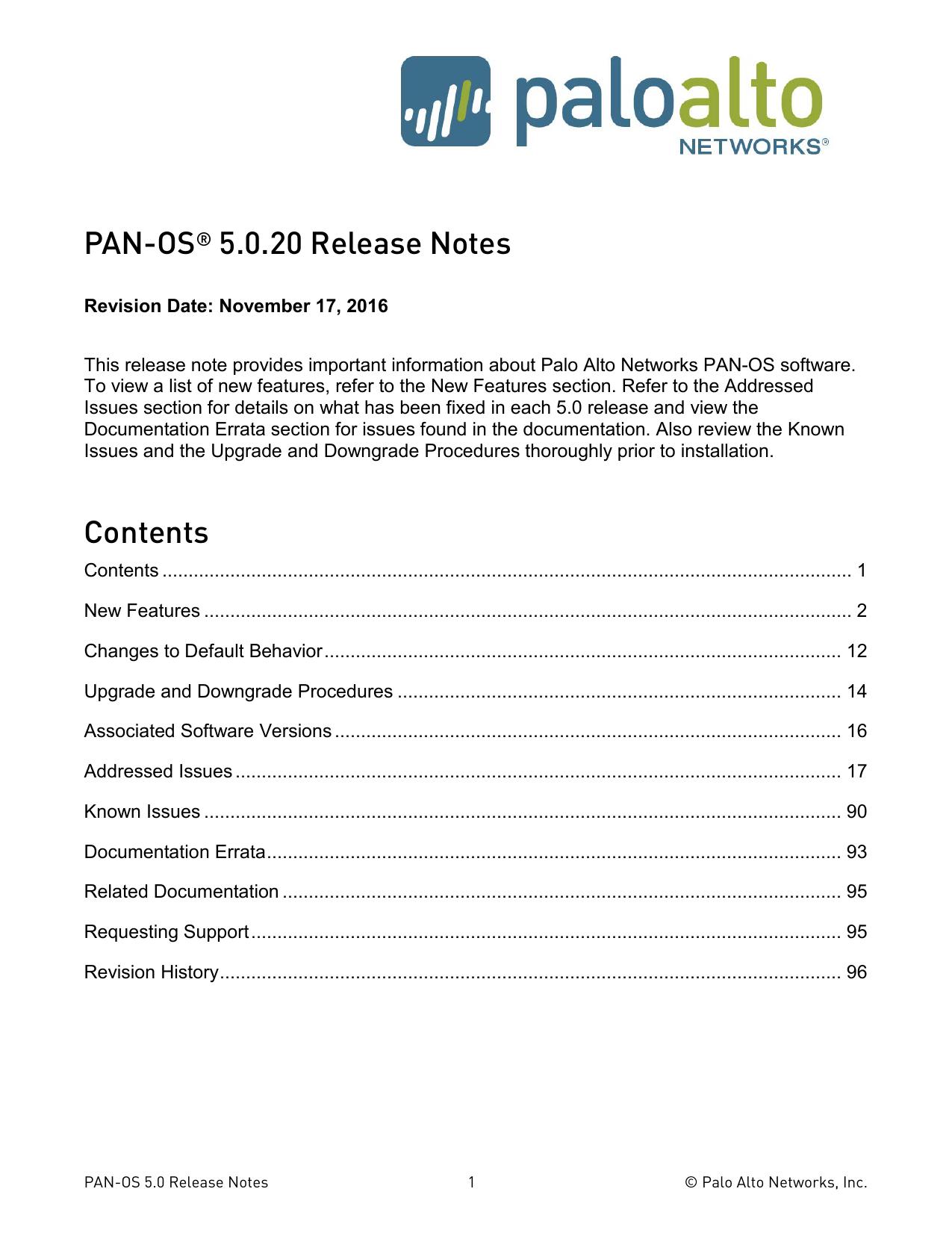 Palo Alto Networks Release Notes | manualzz com
