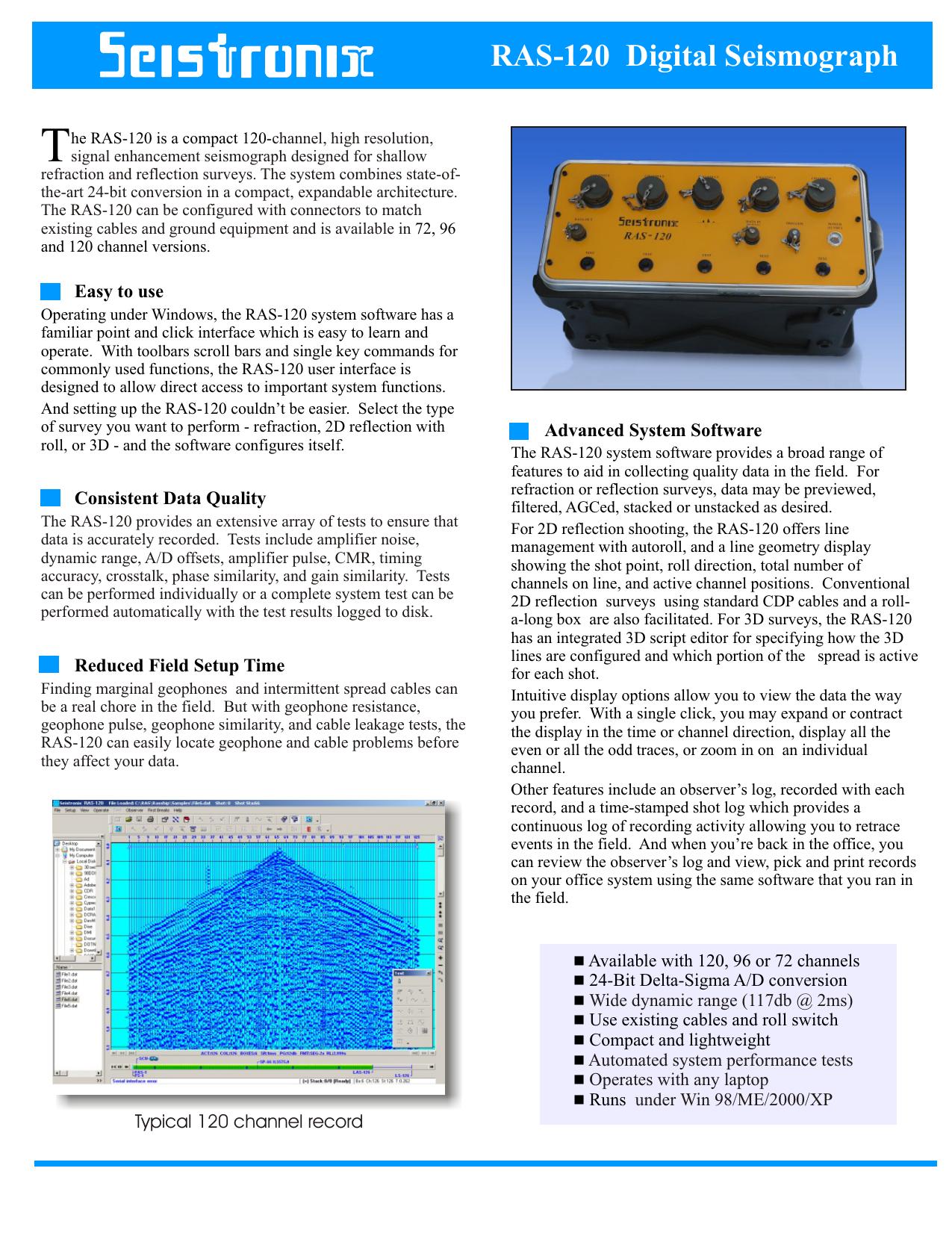 RAS-120 Digital Seismograph | manualzz com