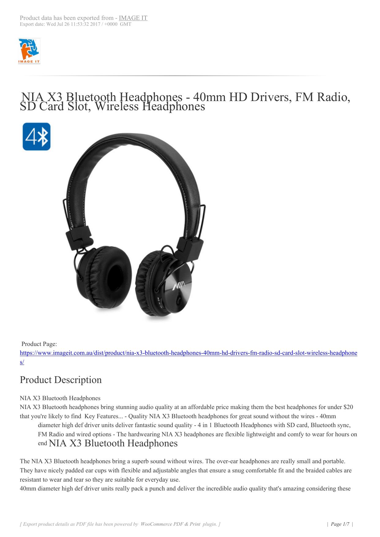 1d0e75a890b NIA X3 Bluetooth Headphones | manualzz.com