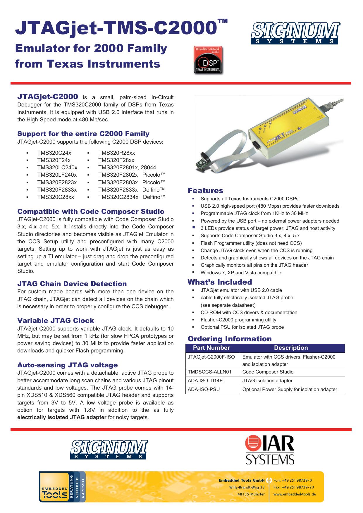 JTAGjet-TMS-C2000 | manualzz com