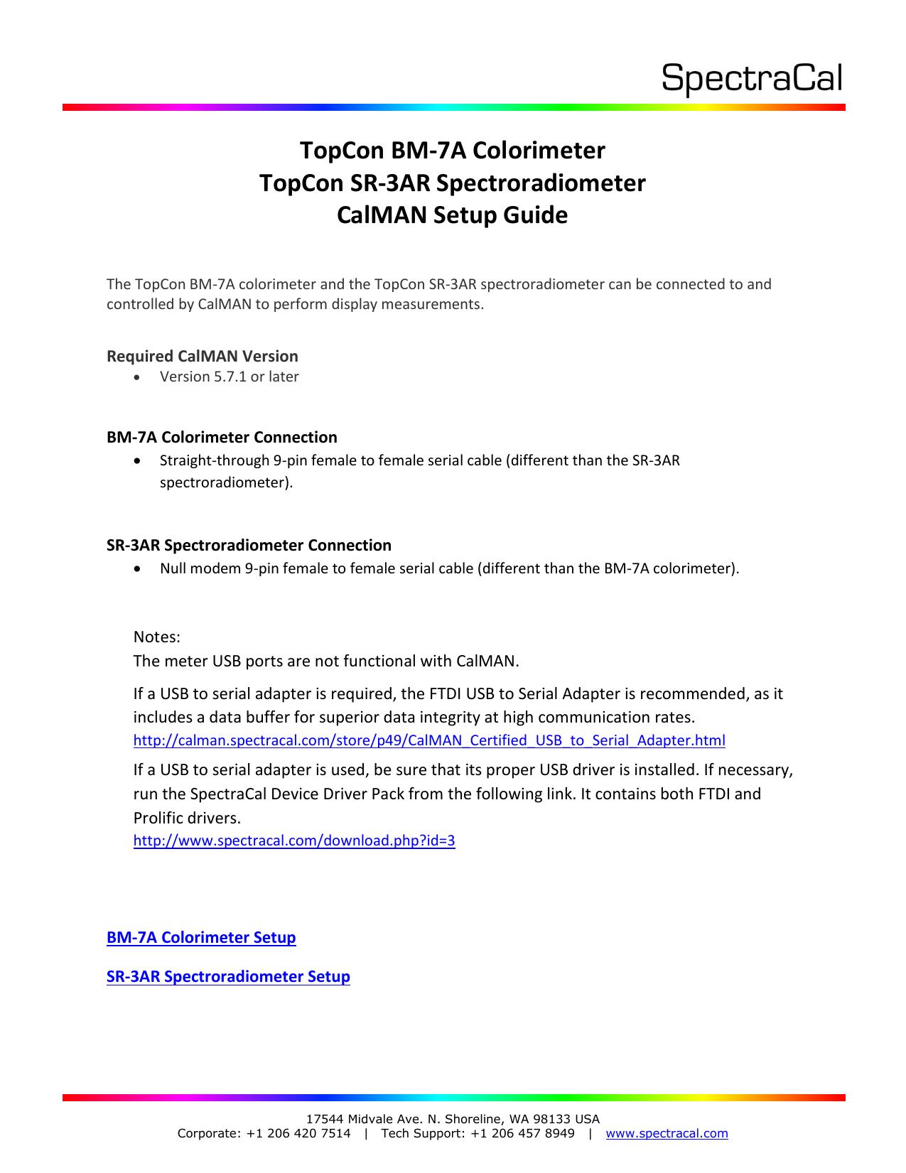 TopCon BM-7A Colorimeter TopCon SR-3AR | manualzz com