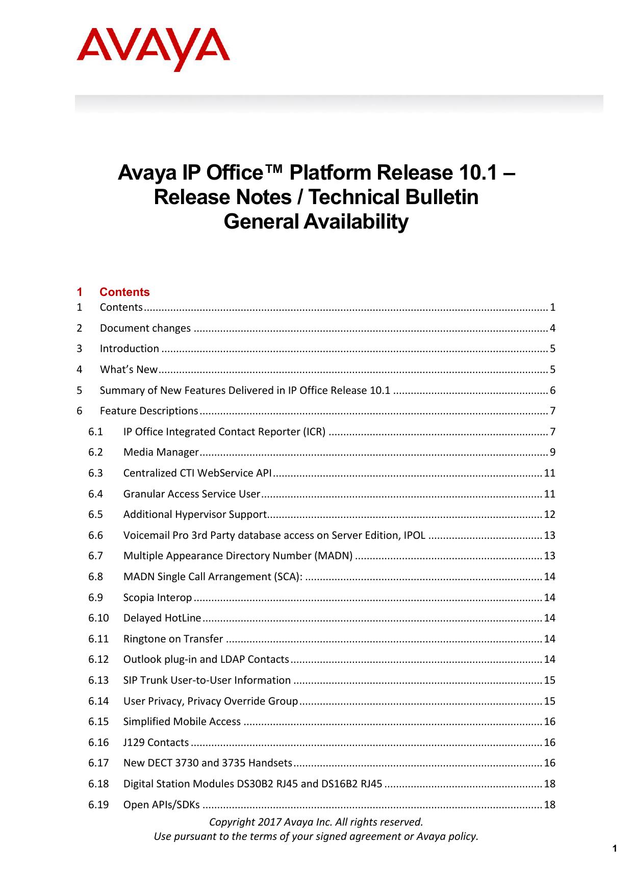 IP Office Platform 10 1 Release Notes | manualzz com