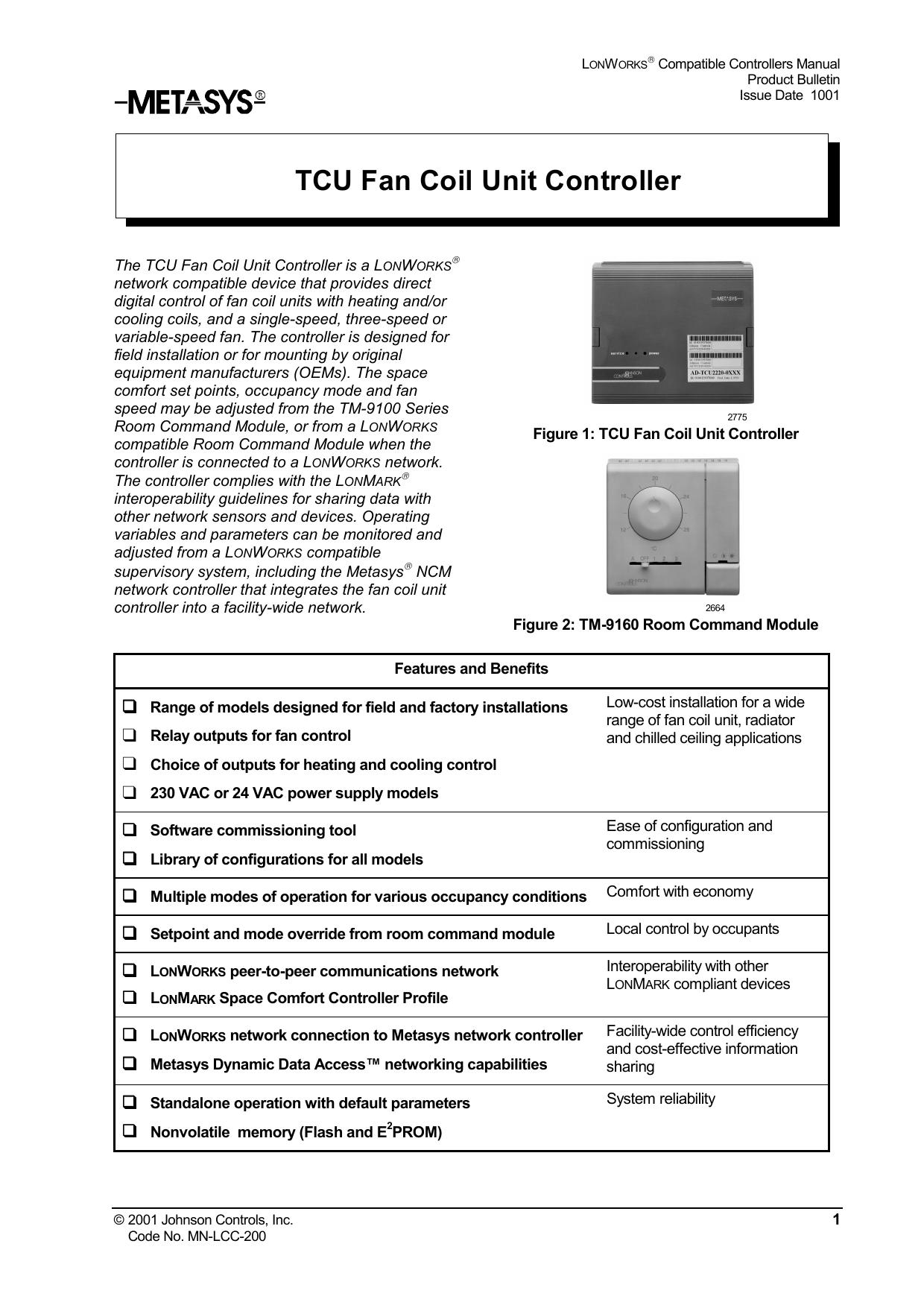 Johnson Control Fcu Wiring Diagram. . Wiring Diagram on