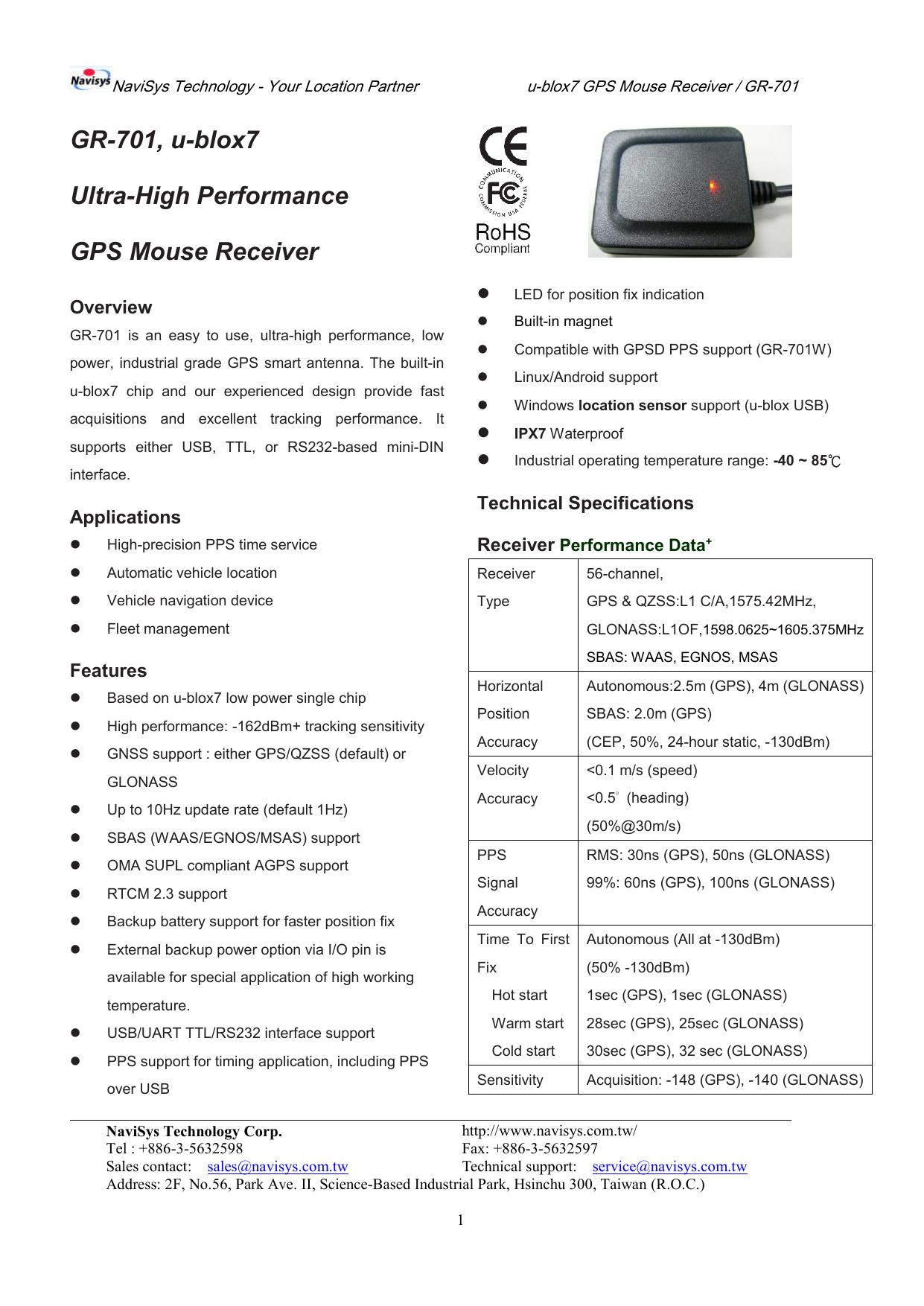 GR-701, u-blox7 Ultra-High Performance GPS   manualzz com