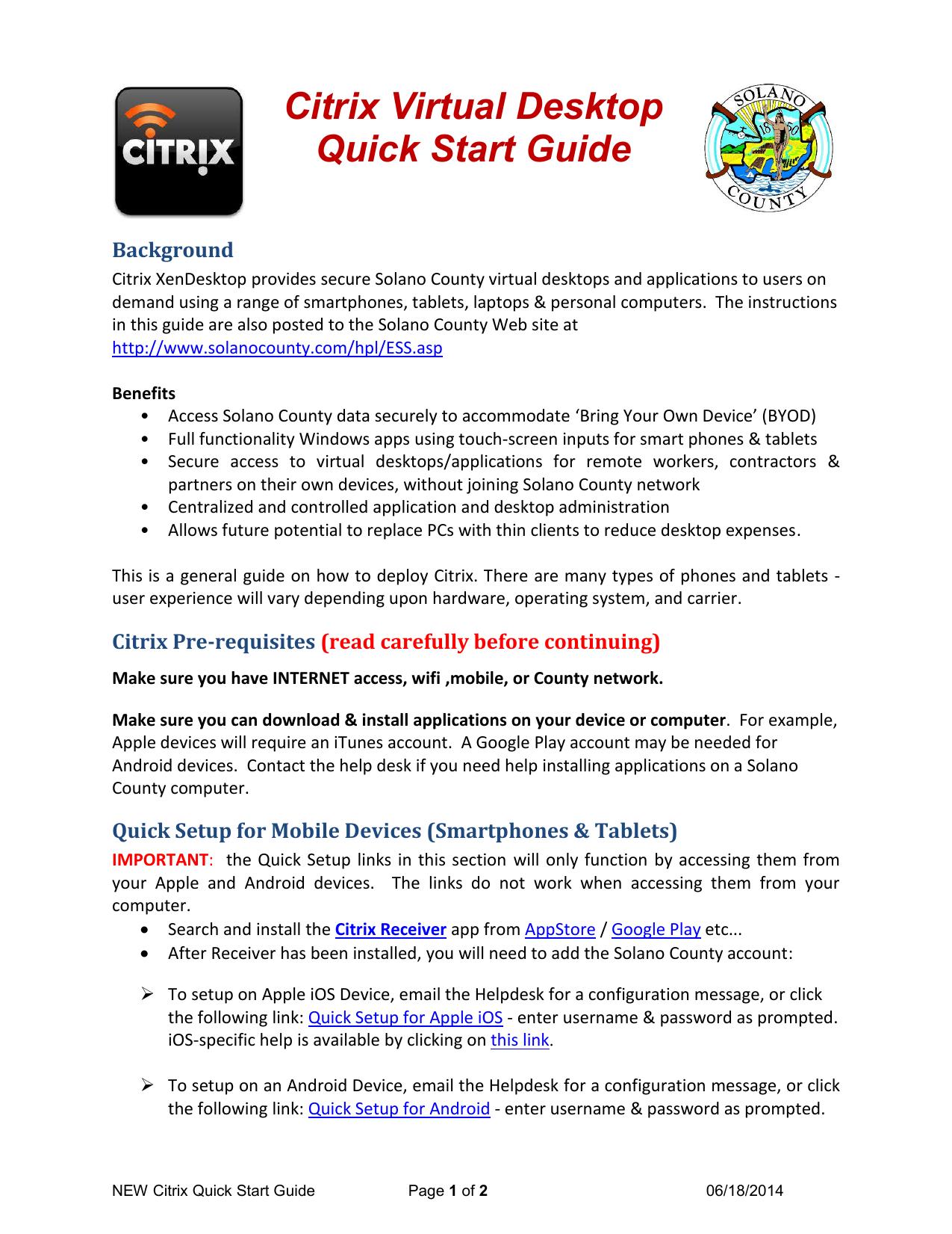 Citrix Quick Start Guide   manualzz com