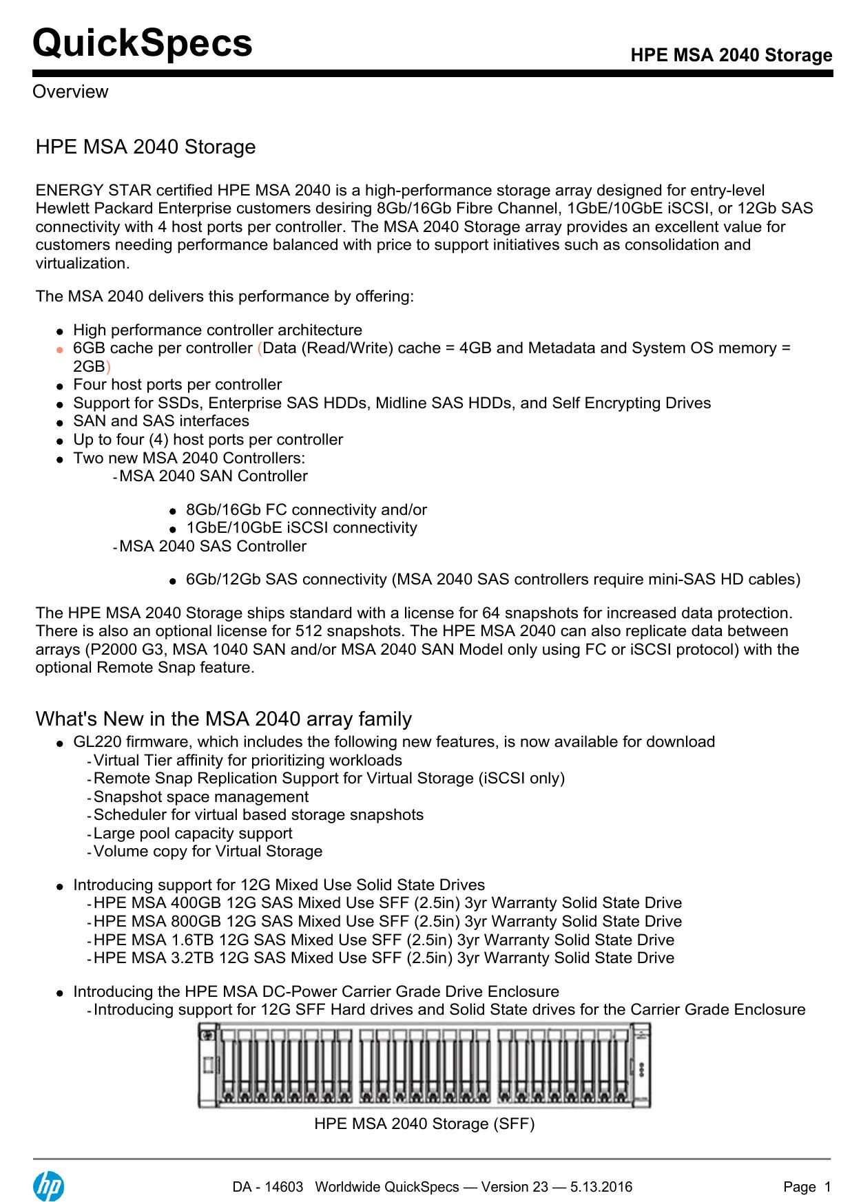 HPE MSA 2040 Storage | manualzz com