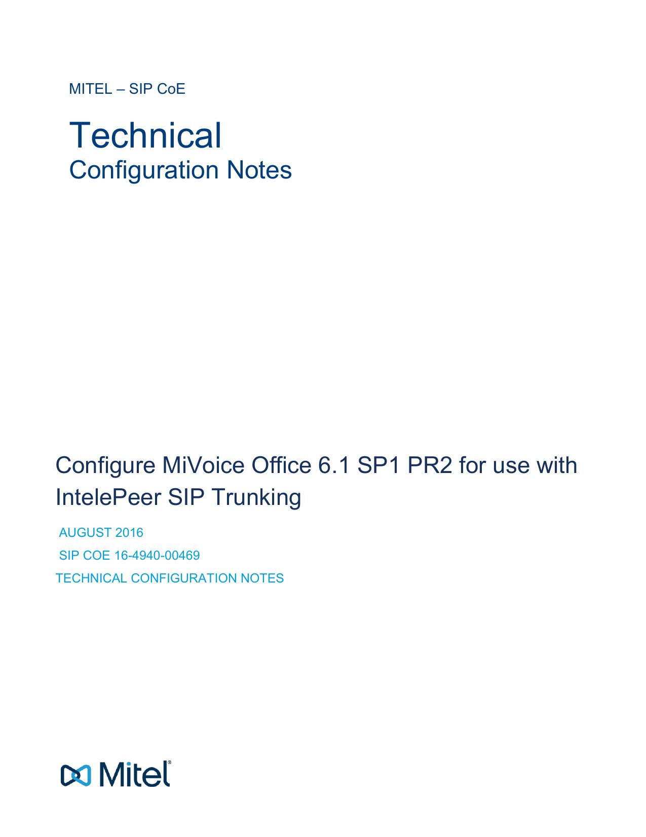 Mitel MiVoice Office 250 Configuration Guide | manualzz com