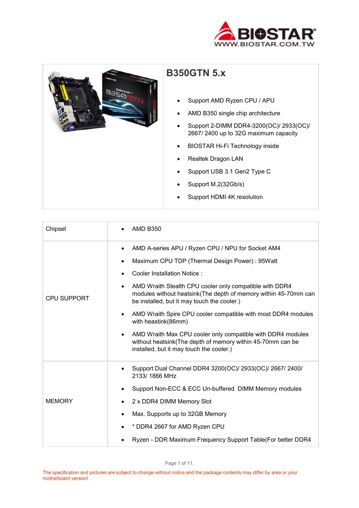 B350GTN 5 x - Micropoint SA | manualzz com
