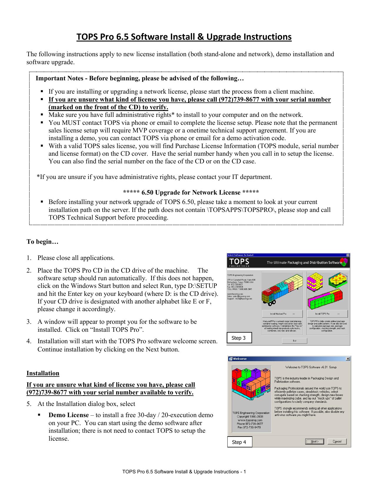 v6 5 Installation and Upgrade Instructions | manualzz com