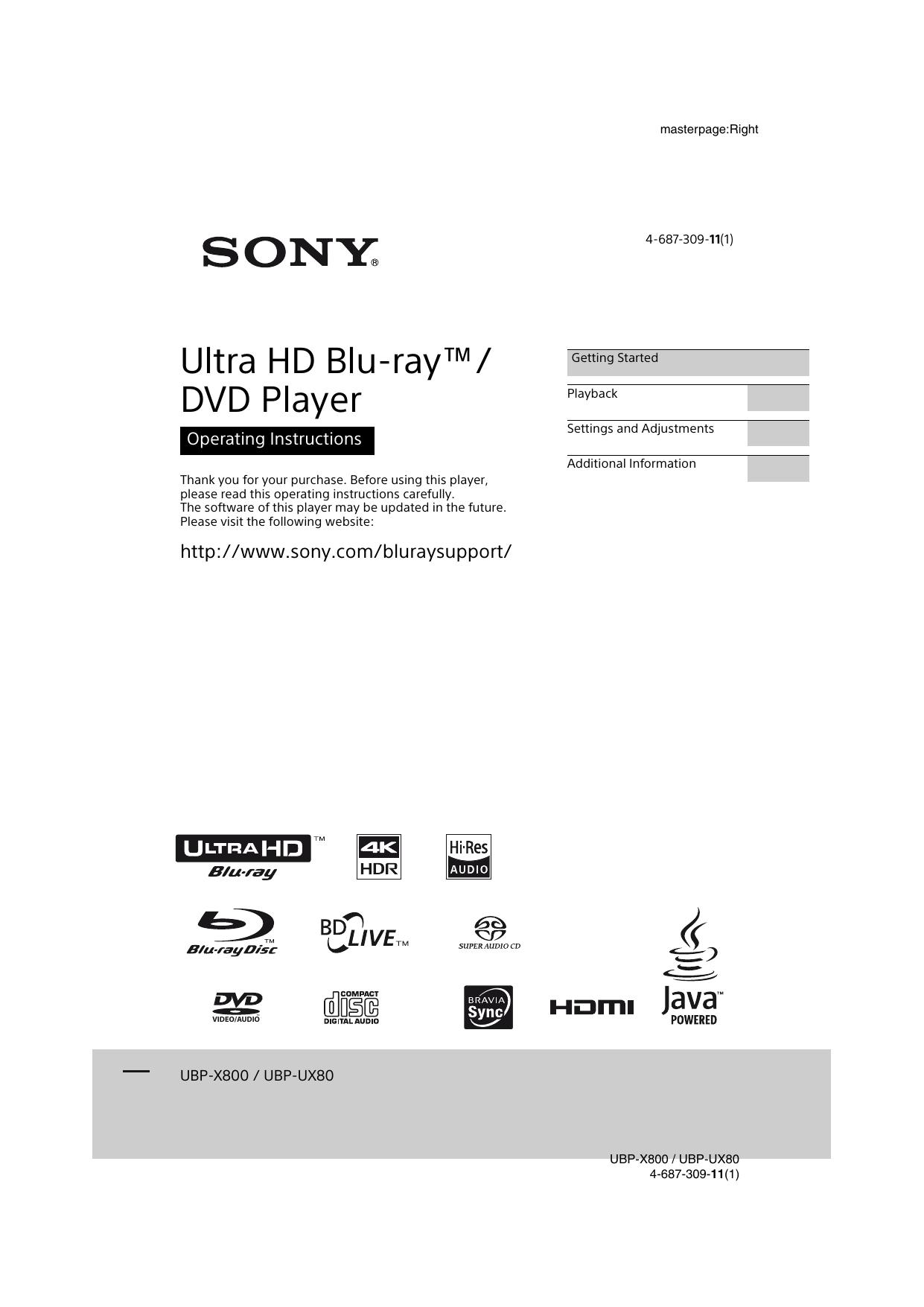UBP-X800 / UBP-UX80 | manualzz com