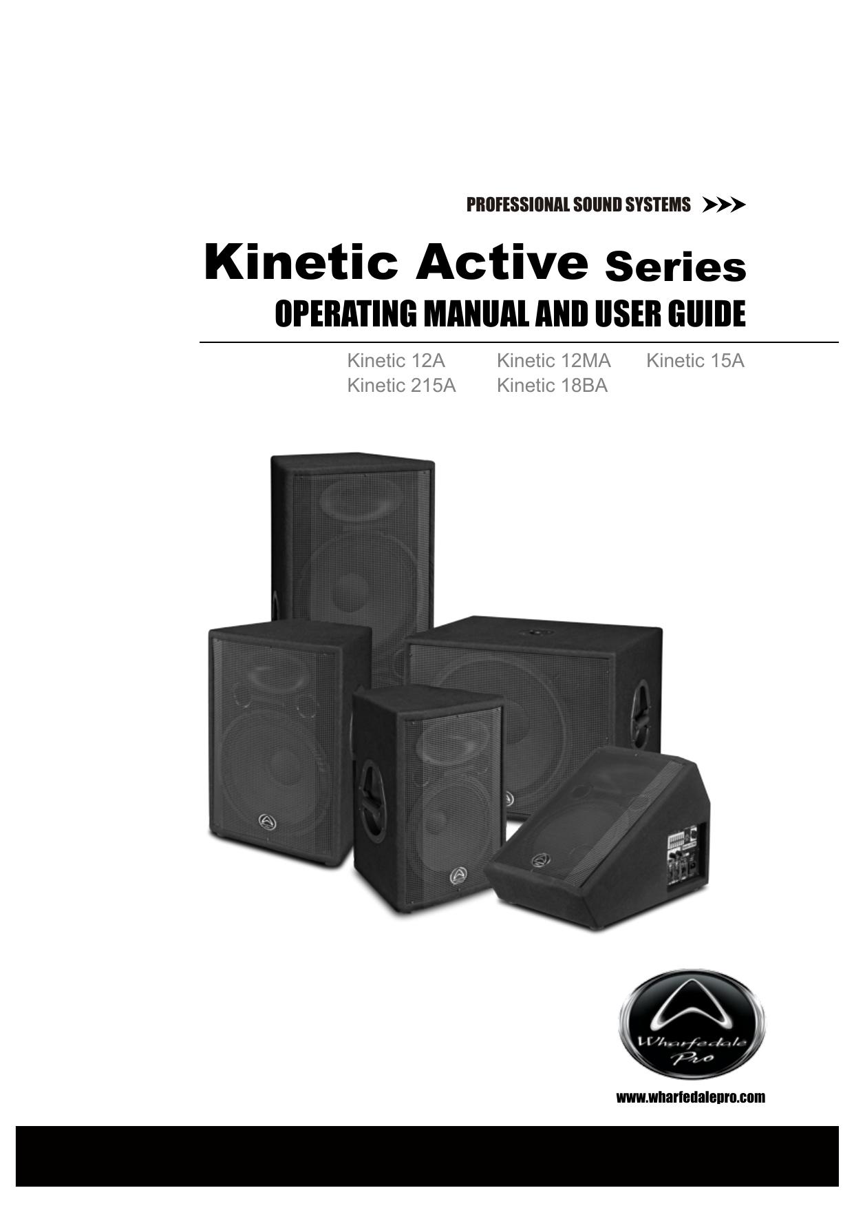 wharfedale pro kinetic 18ba user guide manualzz com rh manualzz com