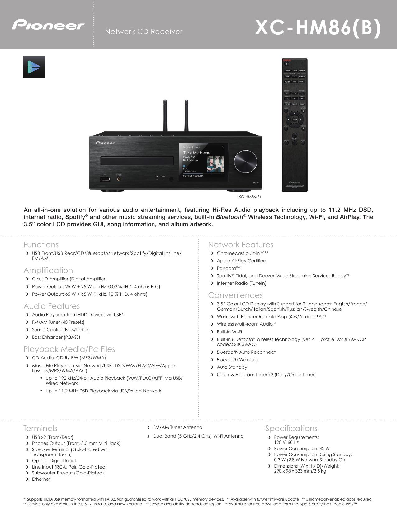 XC-HM86(B) - Pioneer Electronics USA | manualzz com