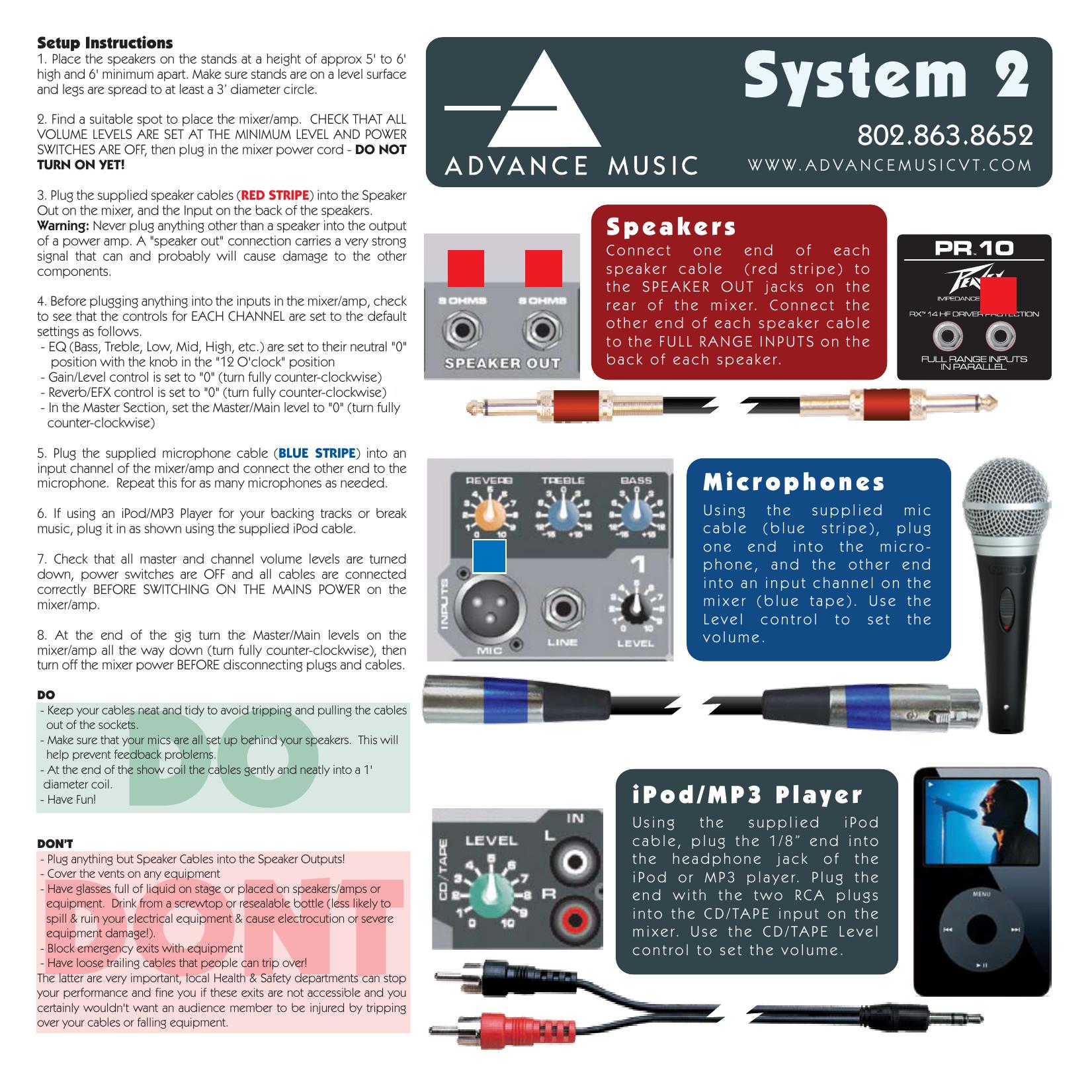 System 2 - Advance Music   manualzz com
