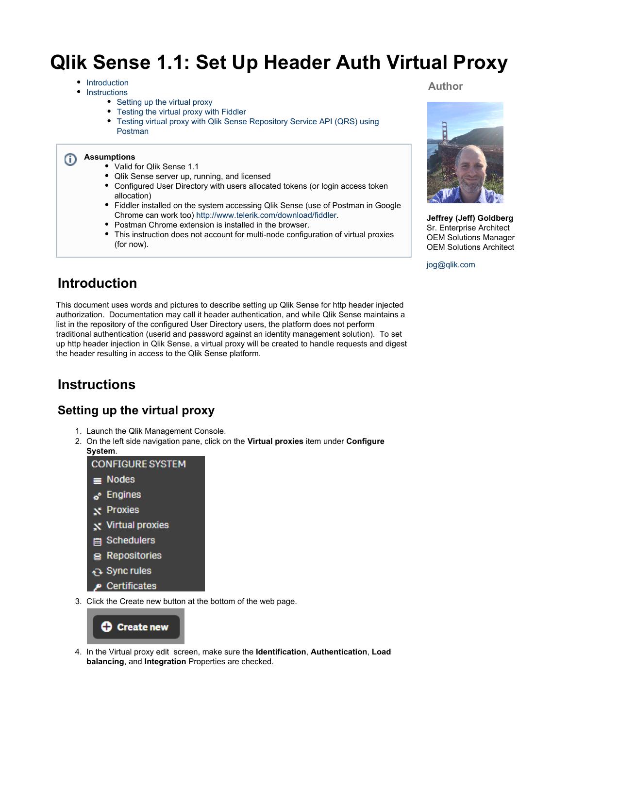 Qlik Sense 1 1: Set Up Header Auth Virtual Proxy | manualzz com