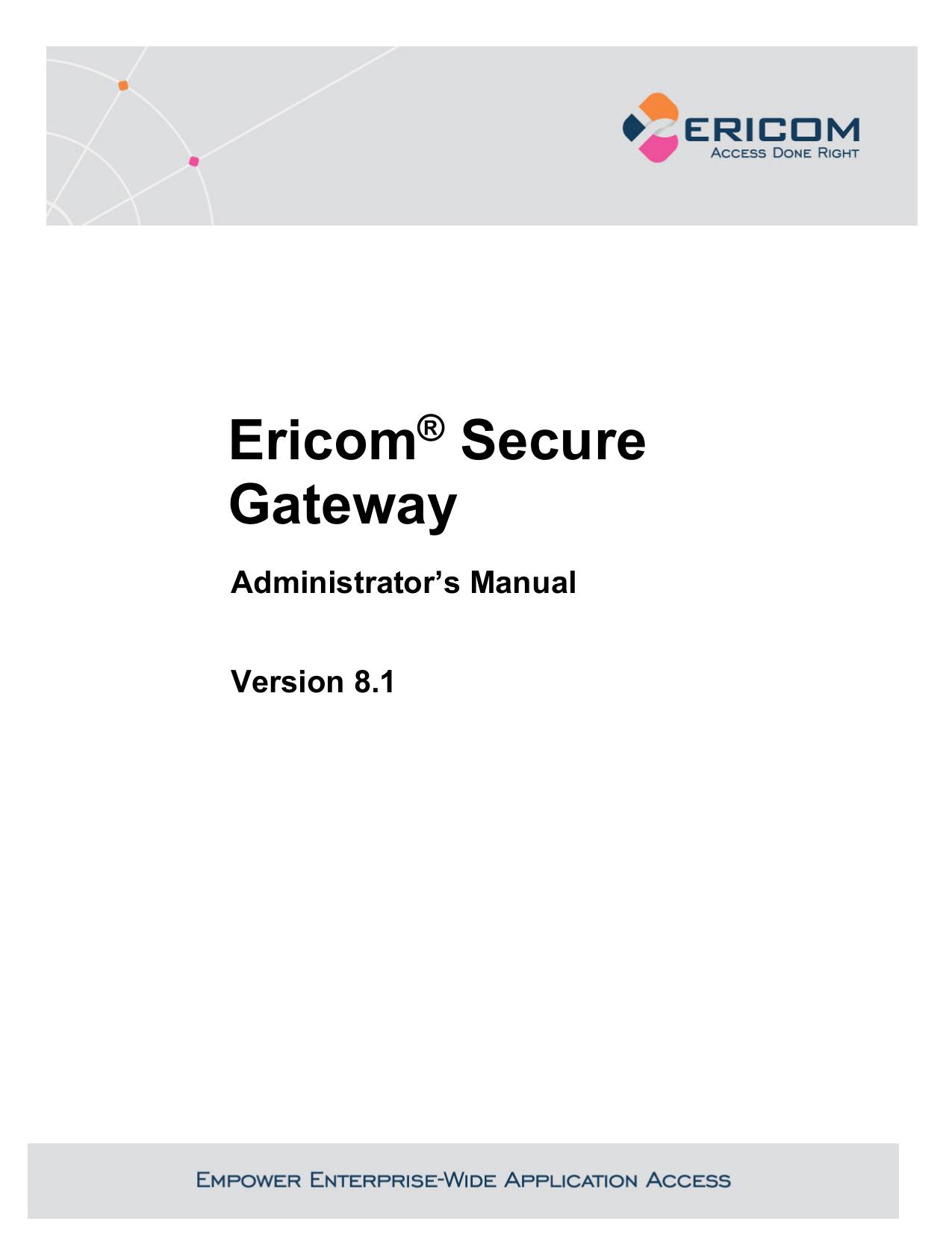 Ericom Secure Gateway   manualzz com
