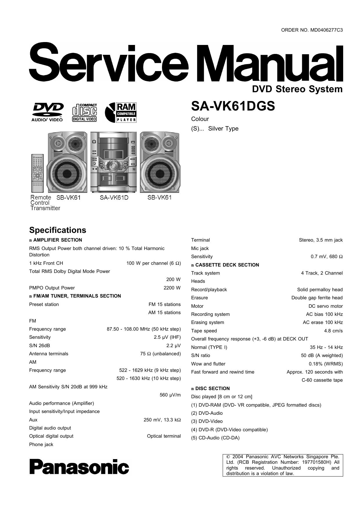 SA-VK61DGS   manualzz.com on