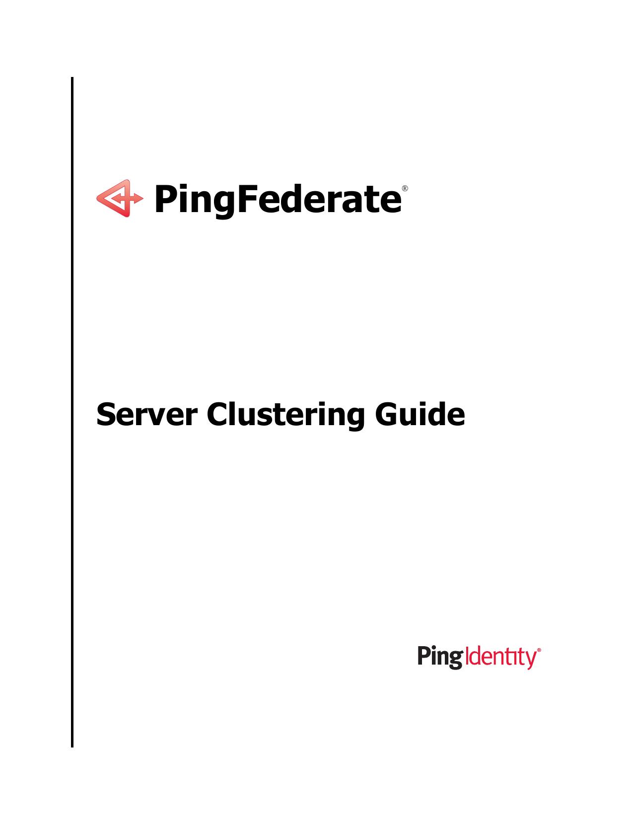 PingFederate Server Clustering Guide | manualzz com