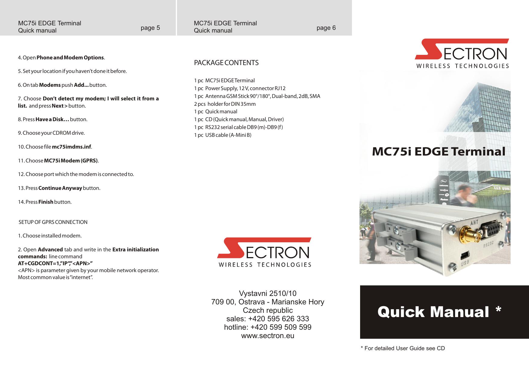 MC75i EDGE Terminal   manualzz com