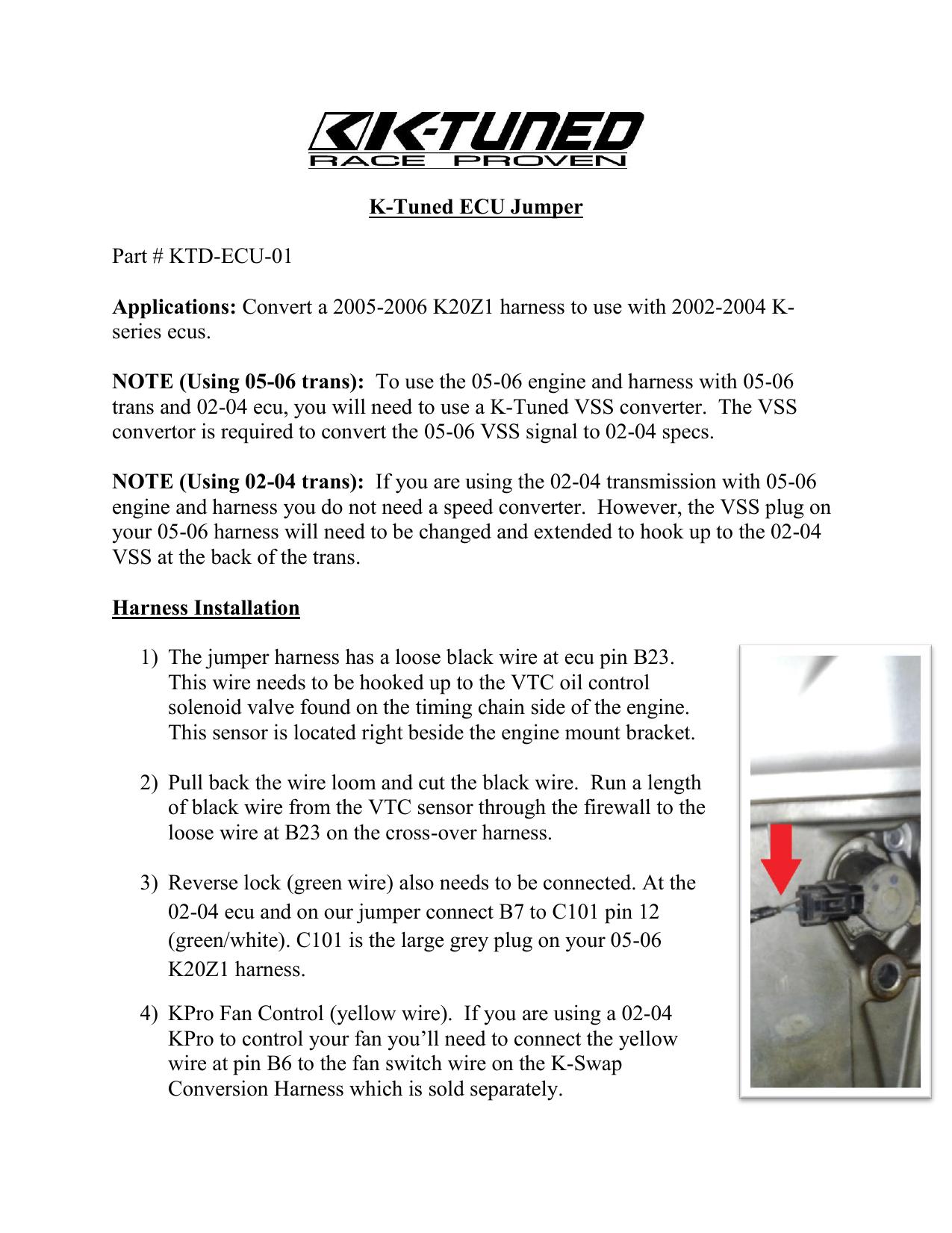 K-Tuned ECU Jumper Part # KTD-ECU   manualzz.com on