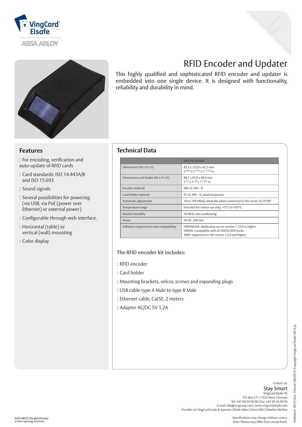 RFID Encoder and Updater | manualzz com