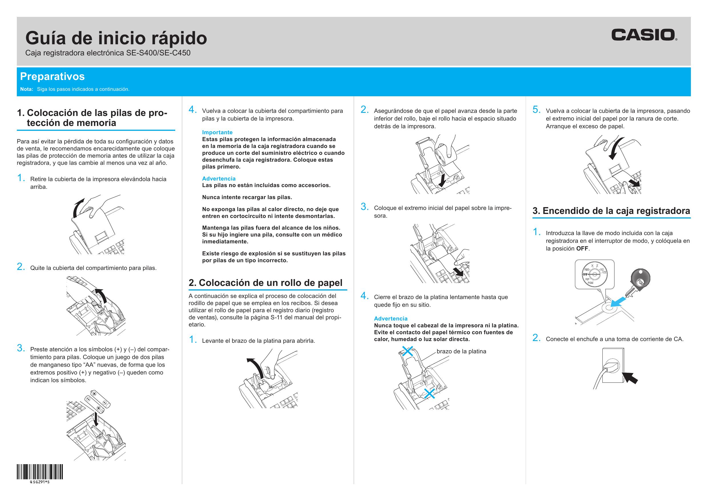 d149c2b5bb3d Casio SE-C450 Guía de inicio rápido