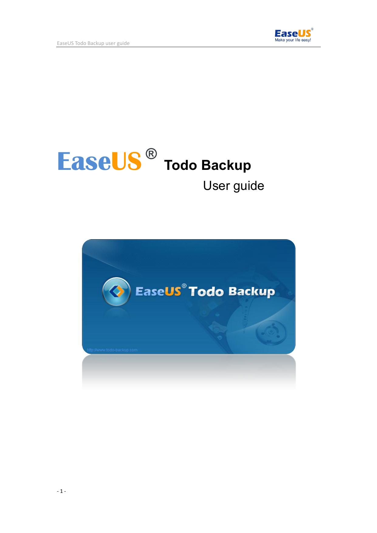 easeus todo backup advanced server manual