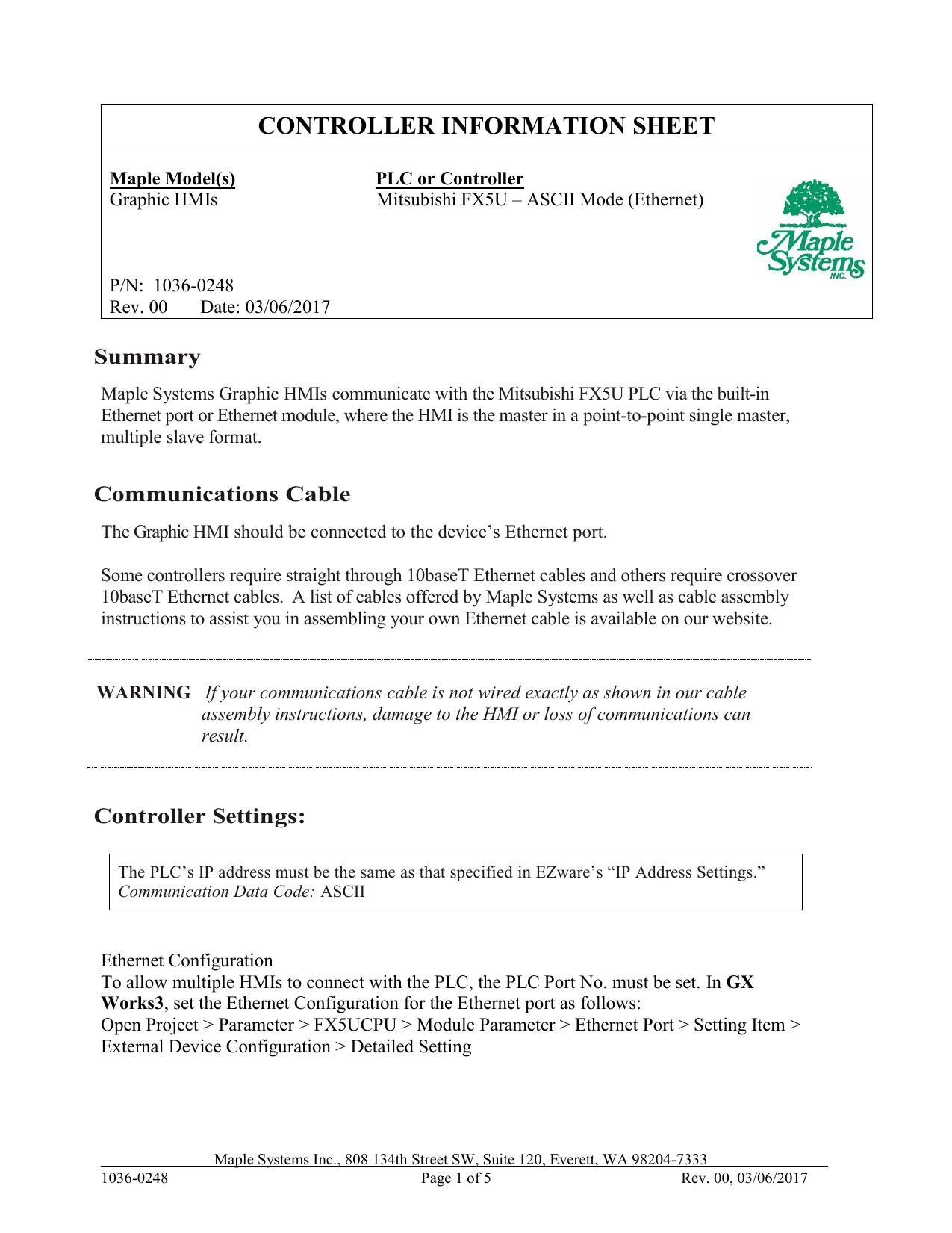 MAPLE SYSTEMS, INC  | manualzz com