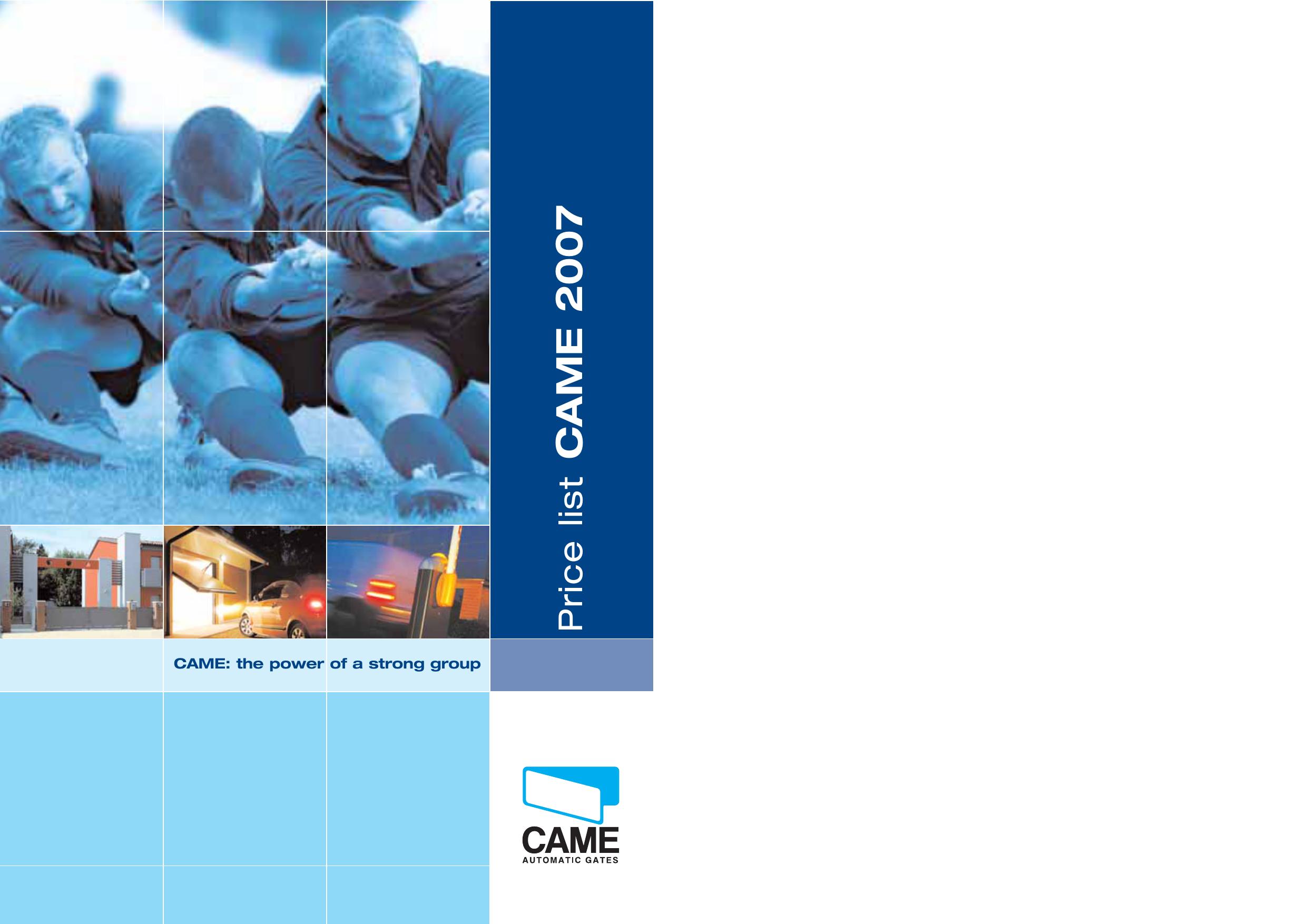 CAME 2007 | manualzz com