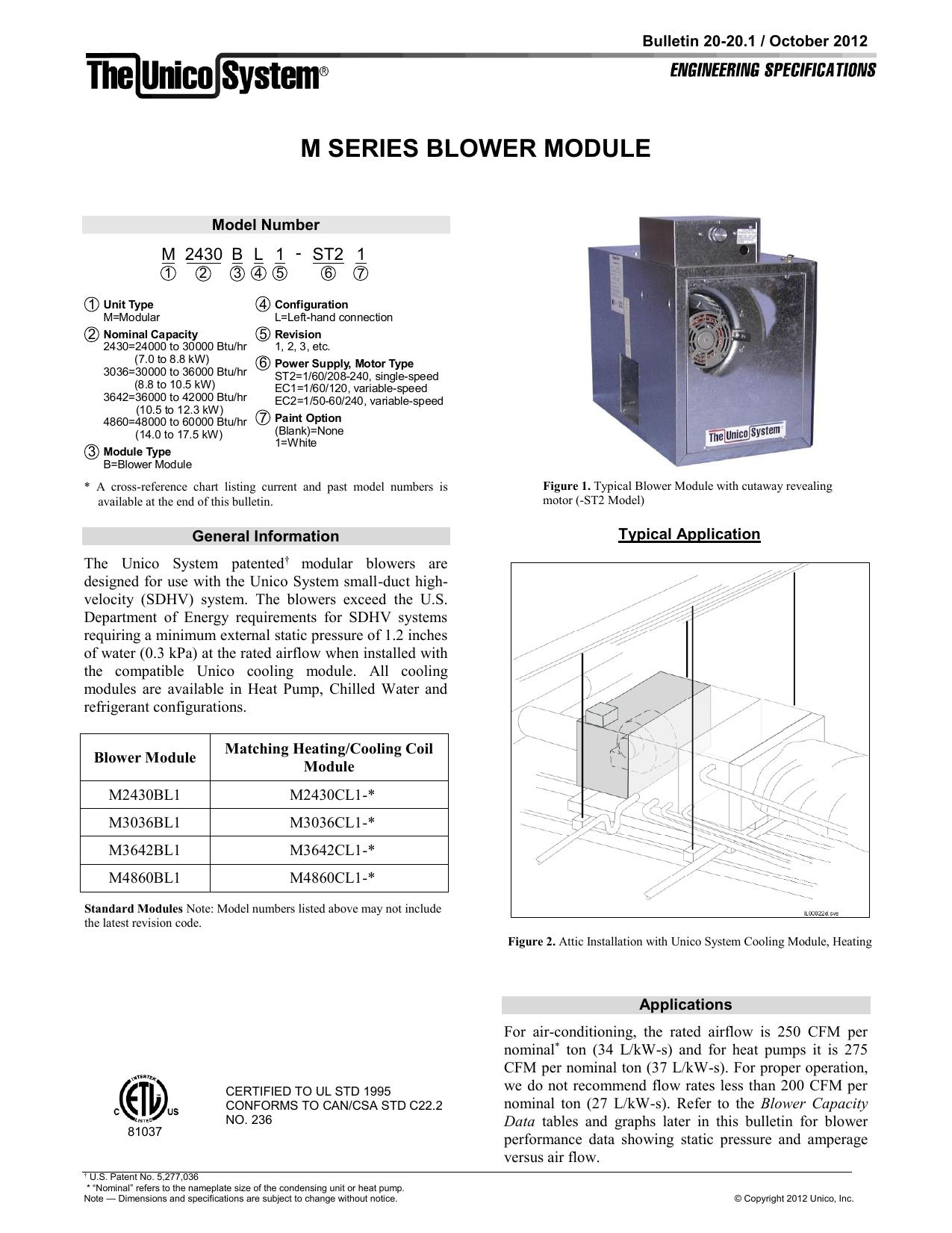 Blower Module - The Unico System   manualzz.com on