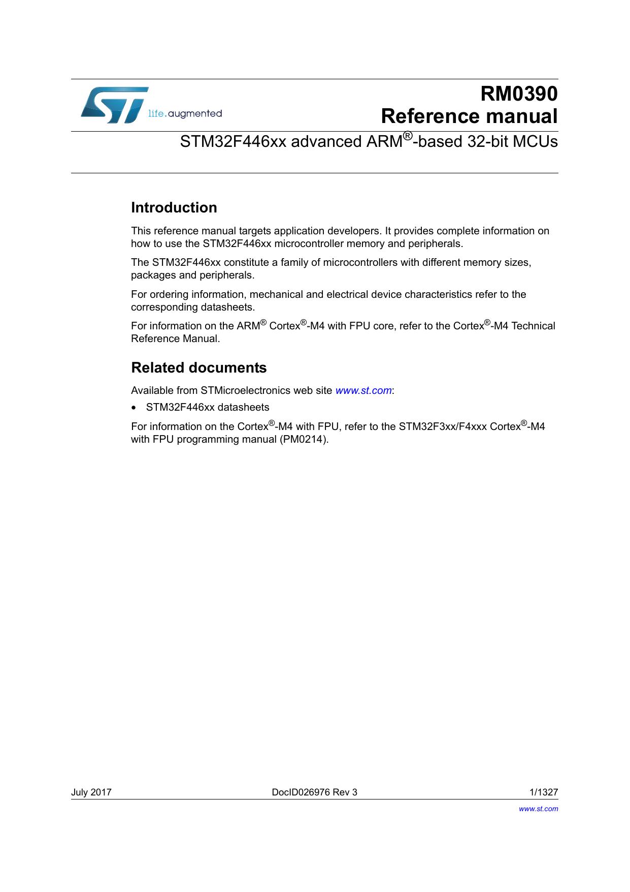STM32F446xx advanced ARM®-based 32 | manualzz com