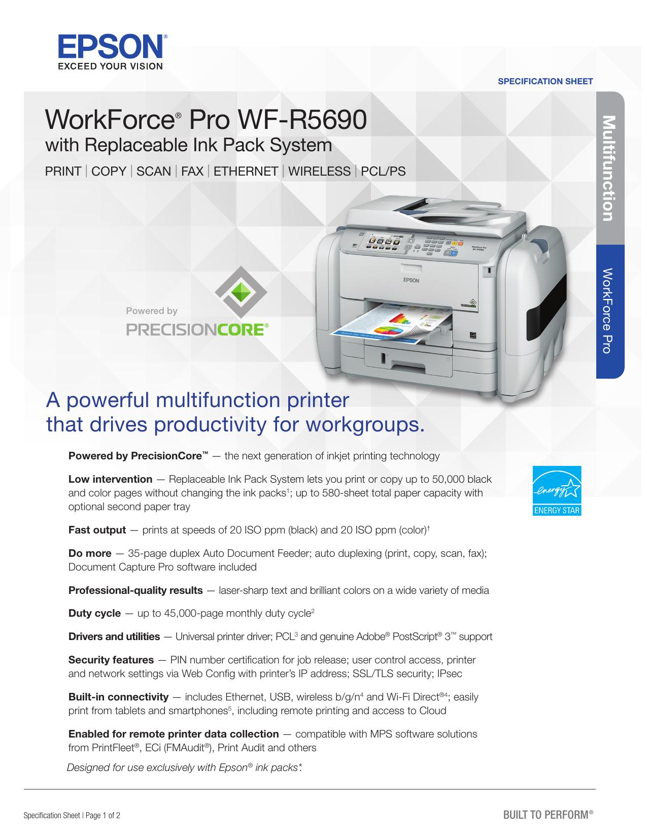 WorkForce® Pro WF-R5690 - CNET Content Solutions | manualzz com