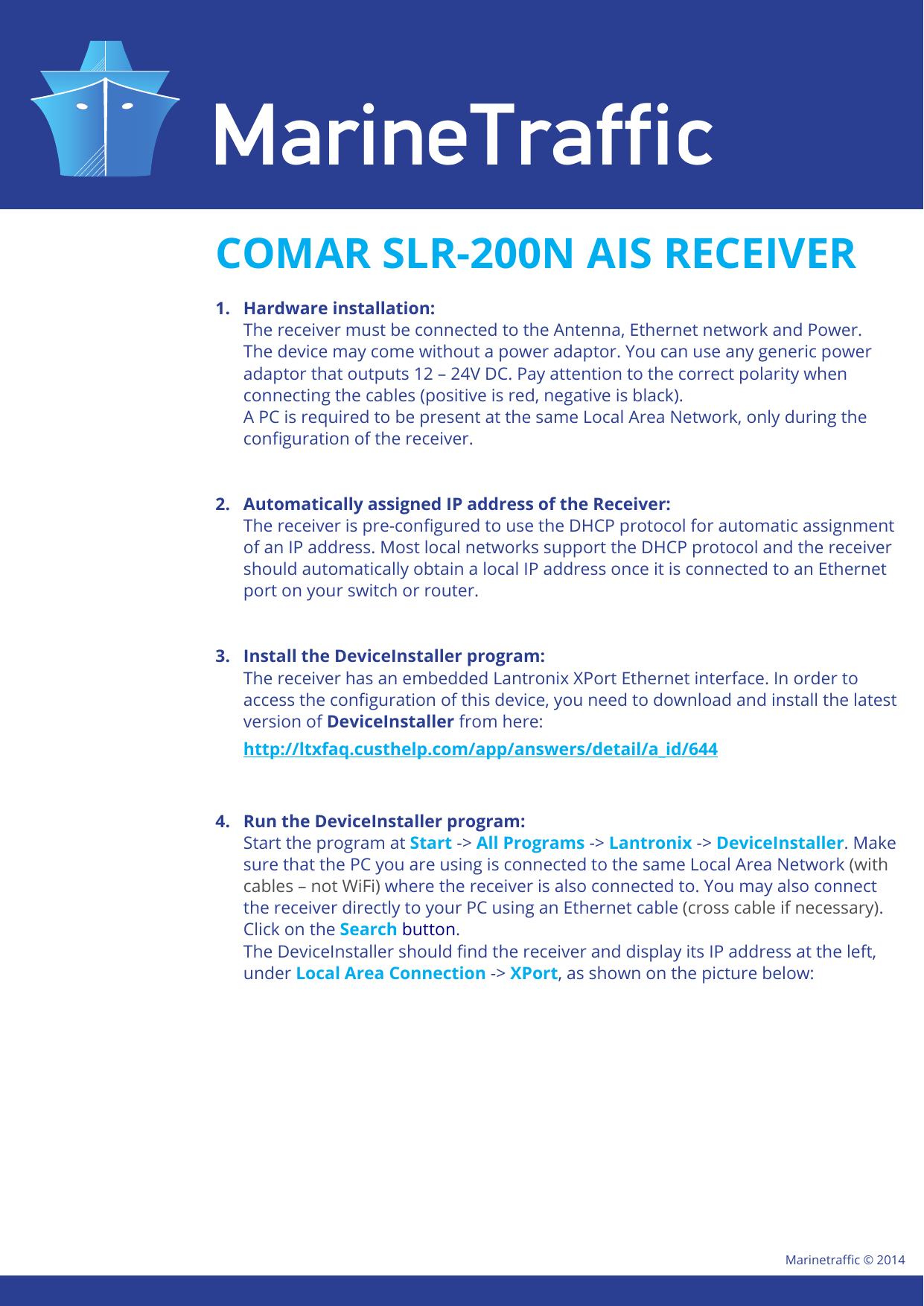 comar slr-200n ais receiver | manualzz com