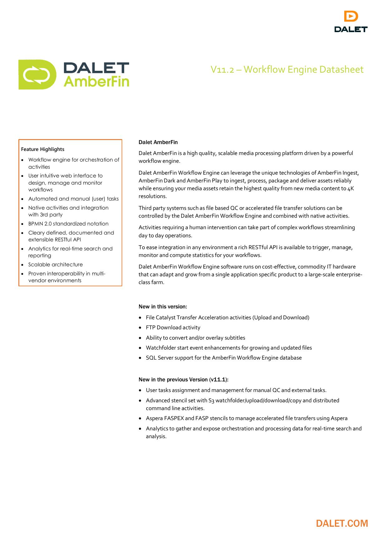 Workflow Engine - Dalet Digital Media Systems | manualzz com