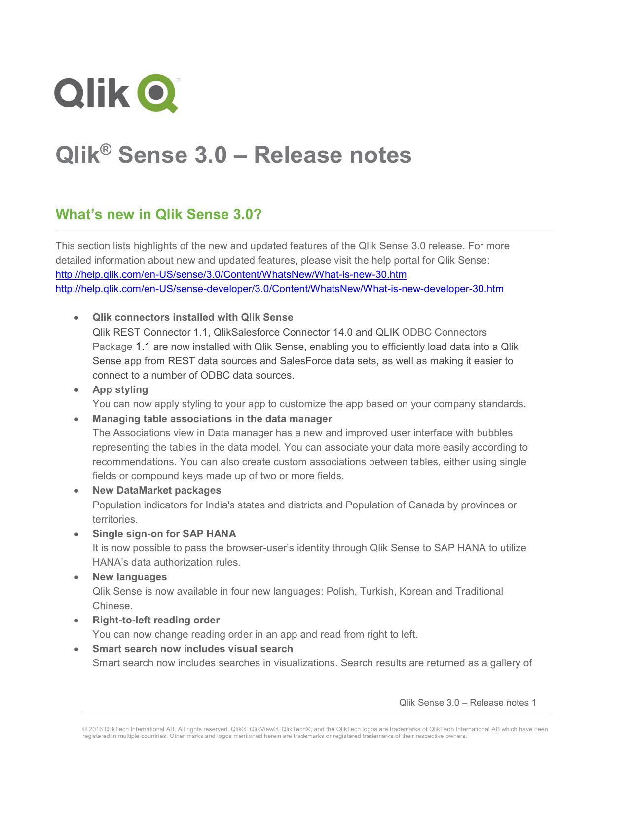 Qlik Sense 3 0 – Release notes | manualzz com