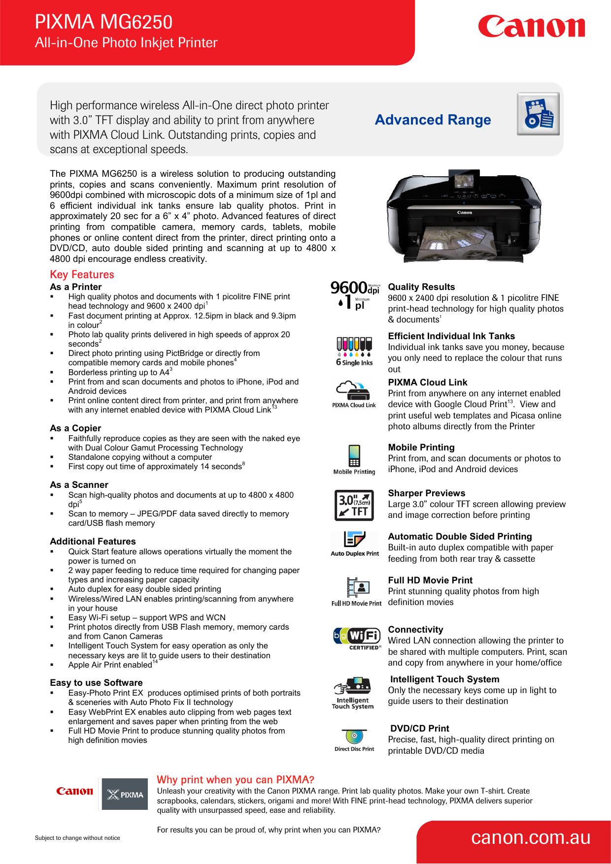 PIXMA MG20 canon.com.au   Manualzz