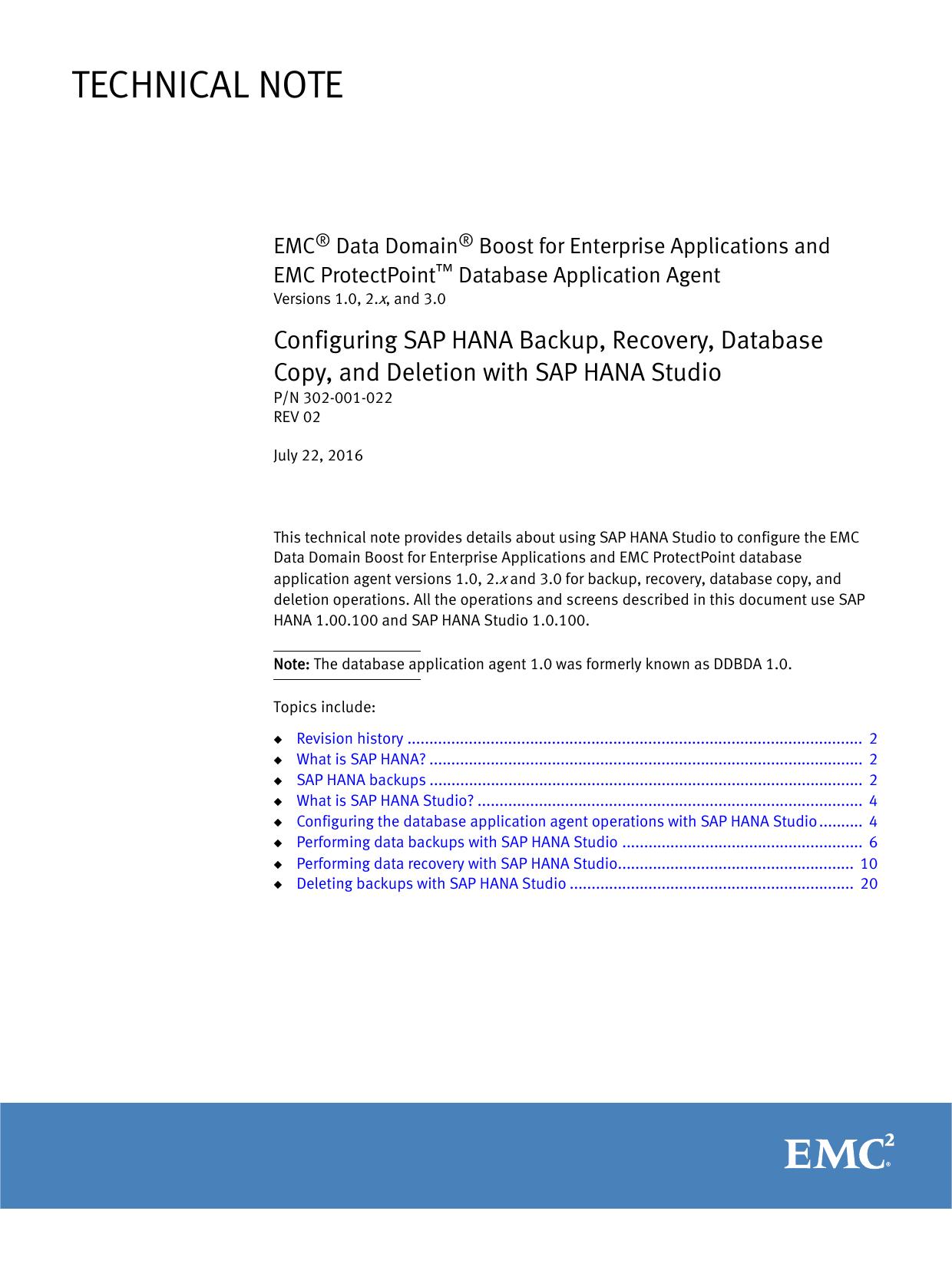 Configuring SAP HANA Backup, Recovery | manualzz com