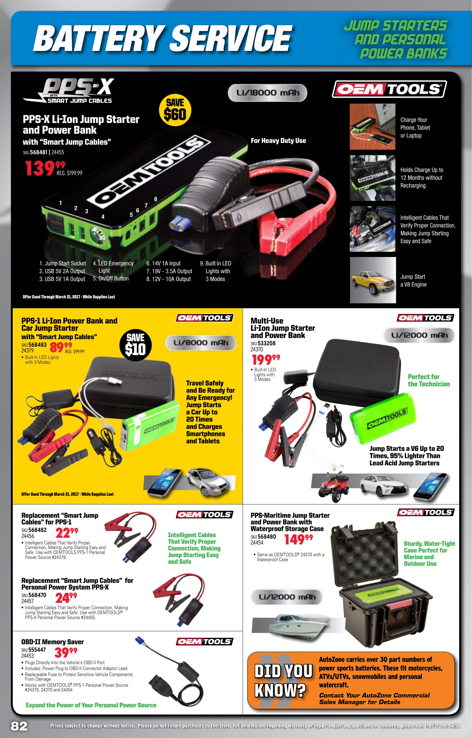 OEMTOOLS 24359 Digital Battery Analyzer 1 Pack