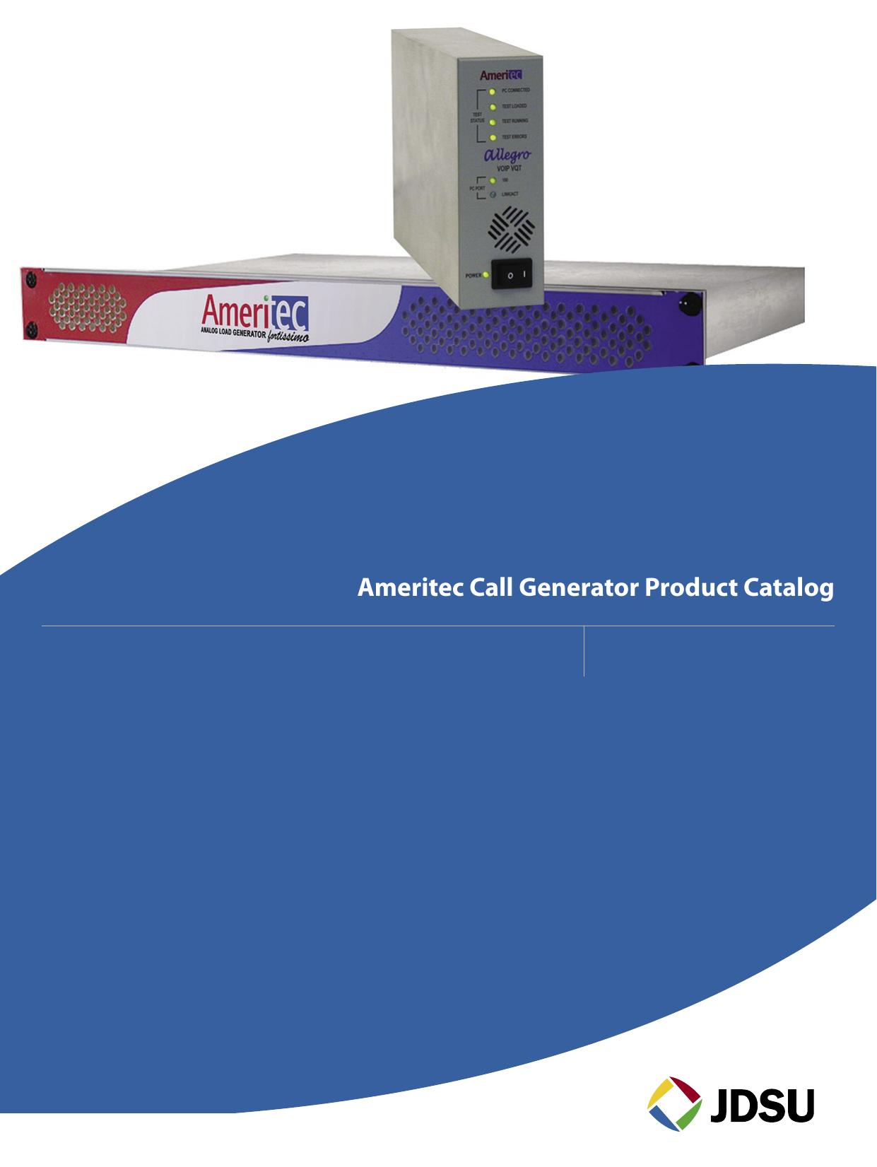 Ameritec Call Generator Product Catalog   manualzz com