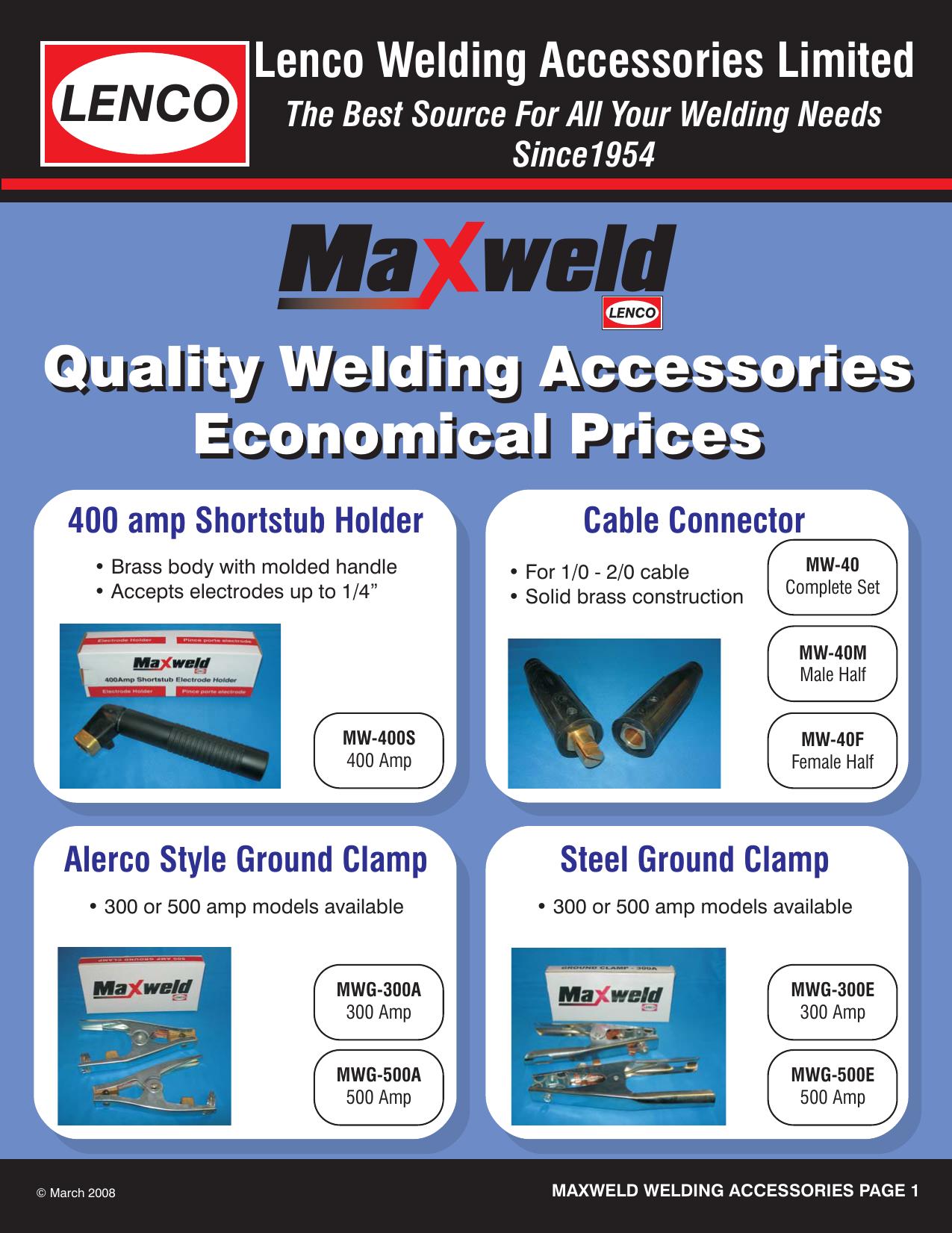 Maxweld Catalogue NP.cdr   Manualzz