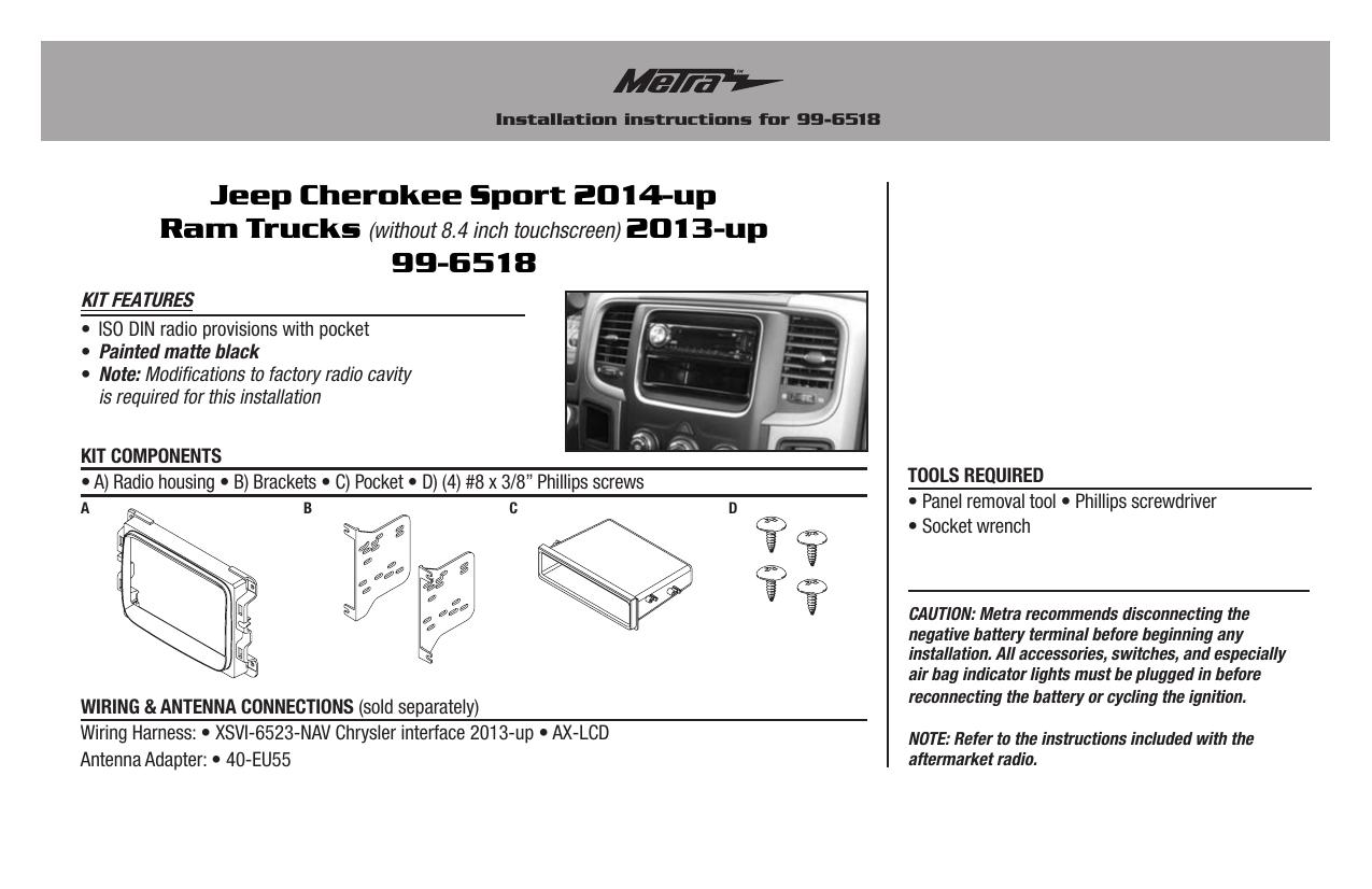 Metra Stereo Dash Kits Installation Instructions | manualzz com