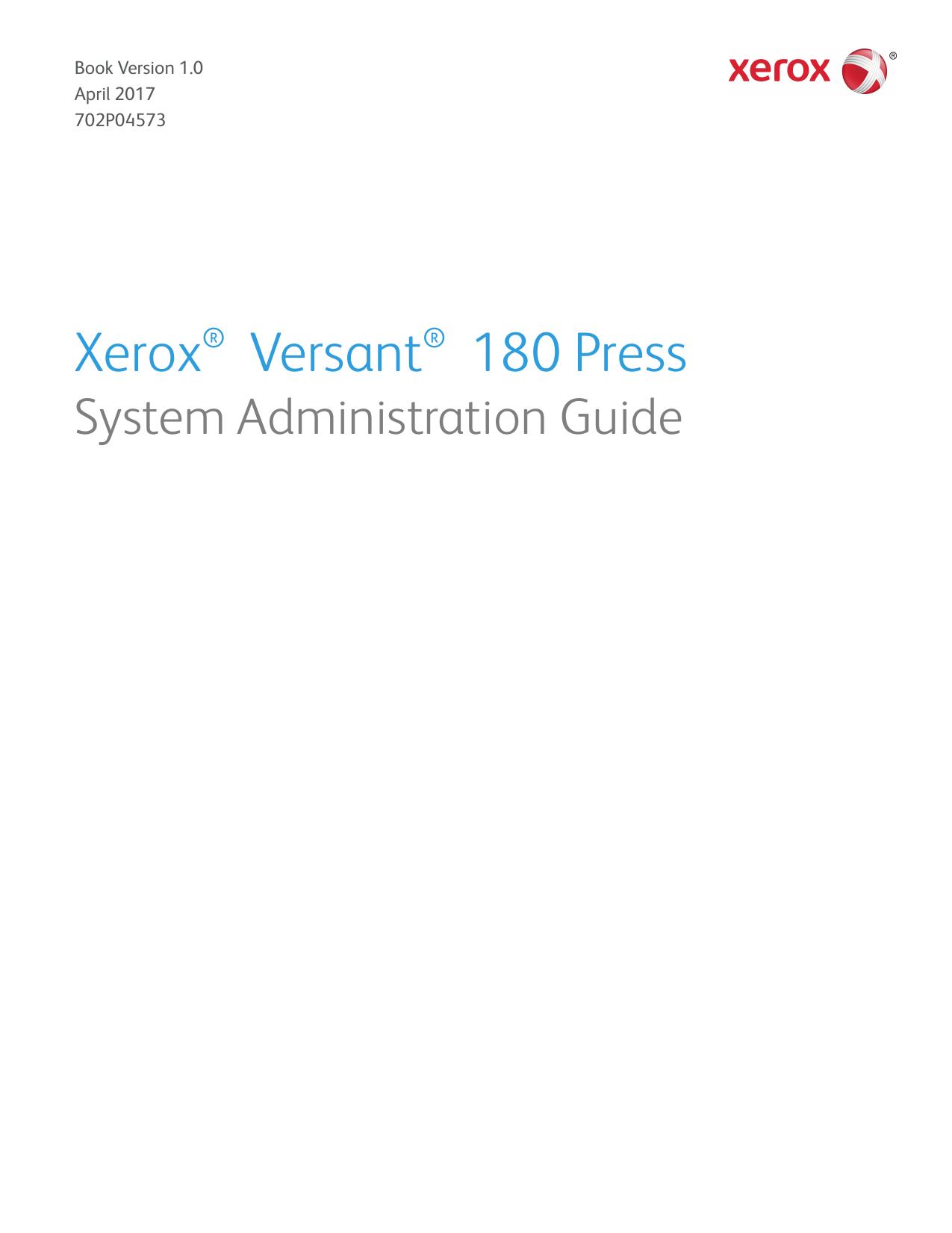 Xerox® Versant® 180 Press | manualzz com