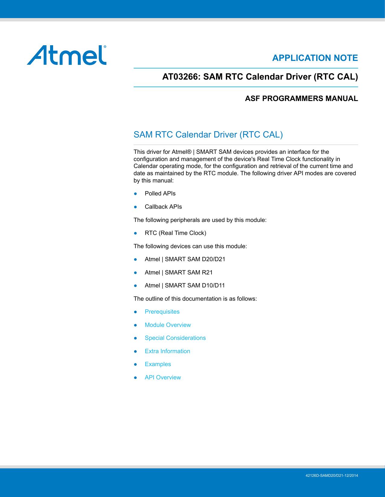 SAM RTC Calendar Driver   manualzz com