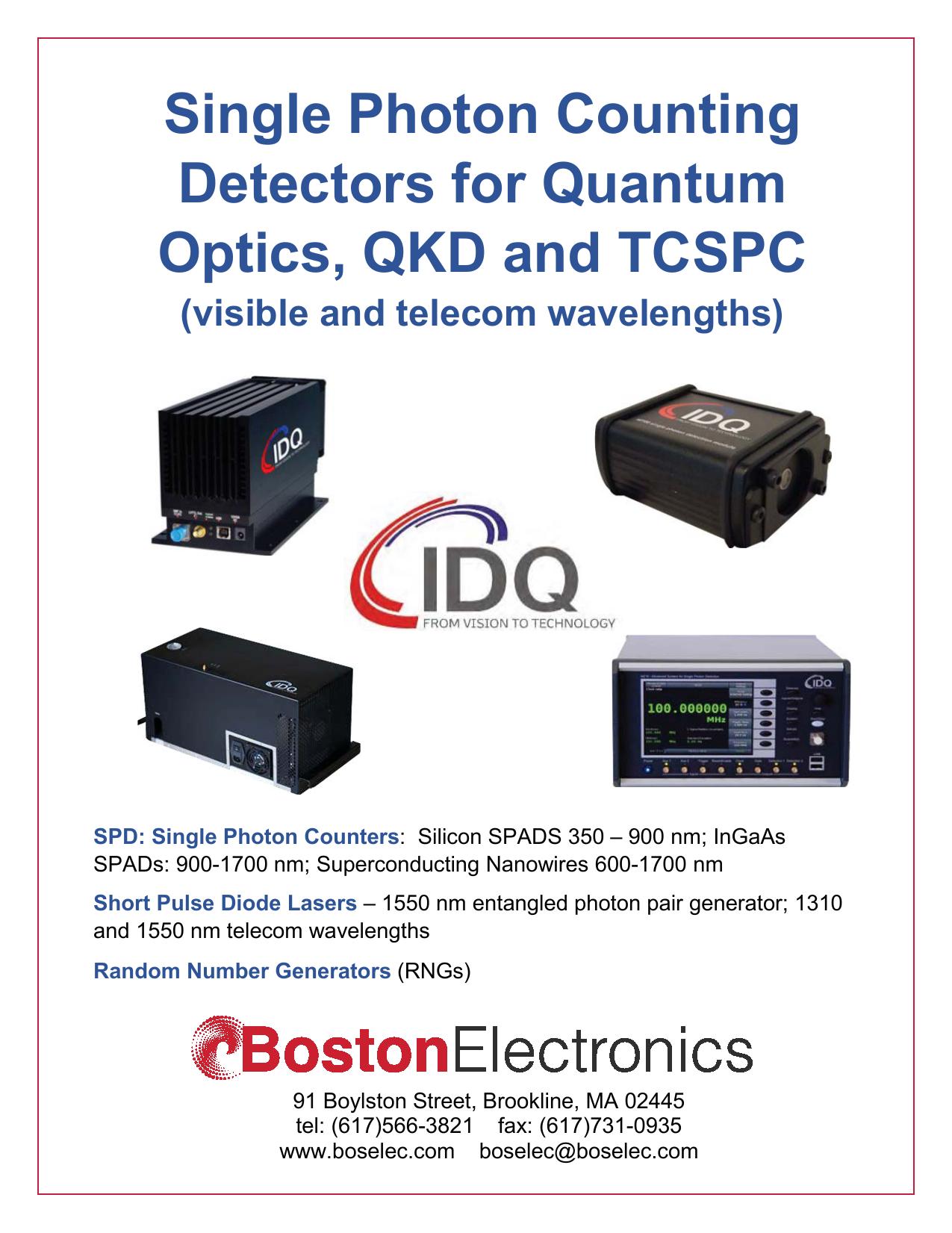 single photon counting detectors for quantum optics qkd and rh manualzz com
