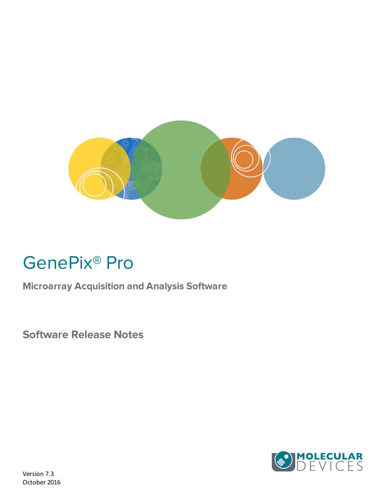 GenePix Pro Microarray Acquisition and Analysis | manualzz com
