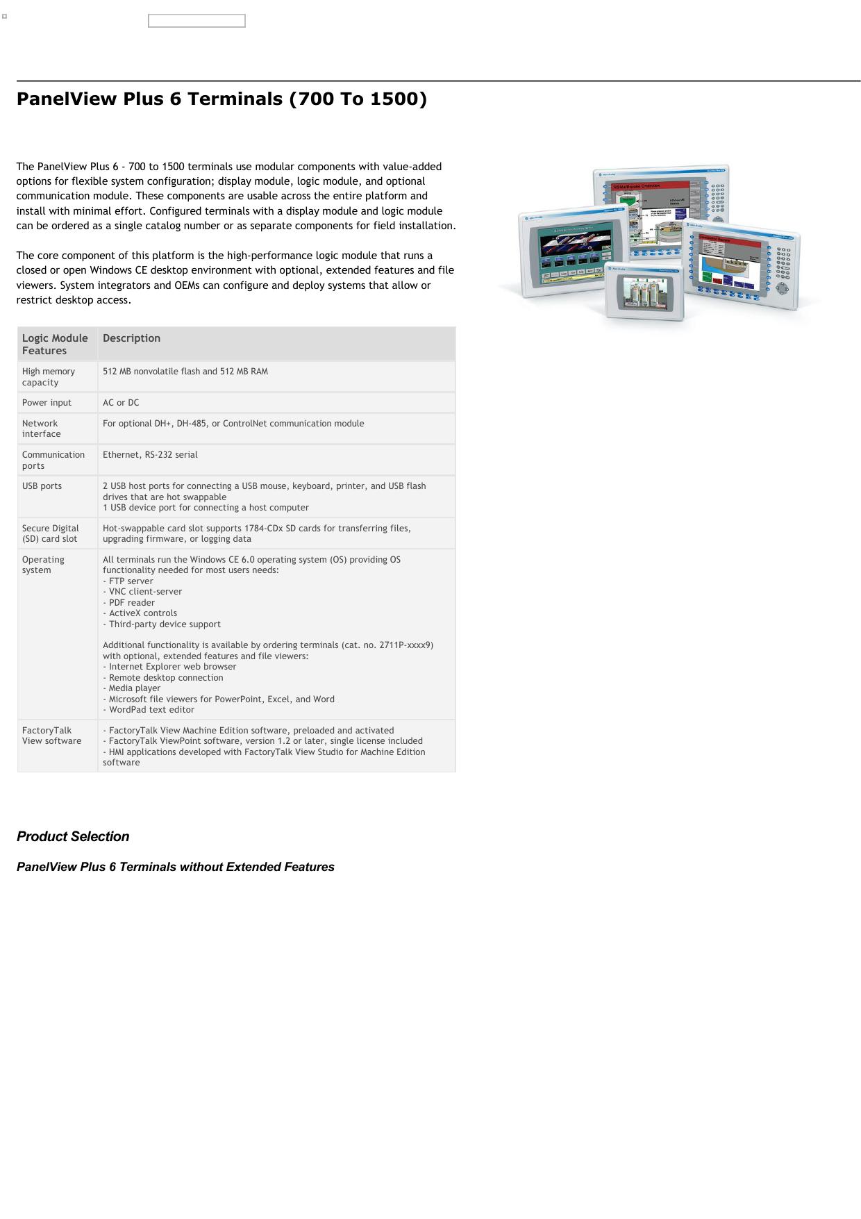 PanelView Plus 6 Terminals (700 to 1500)   manualzz com